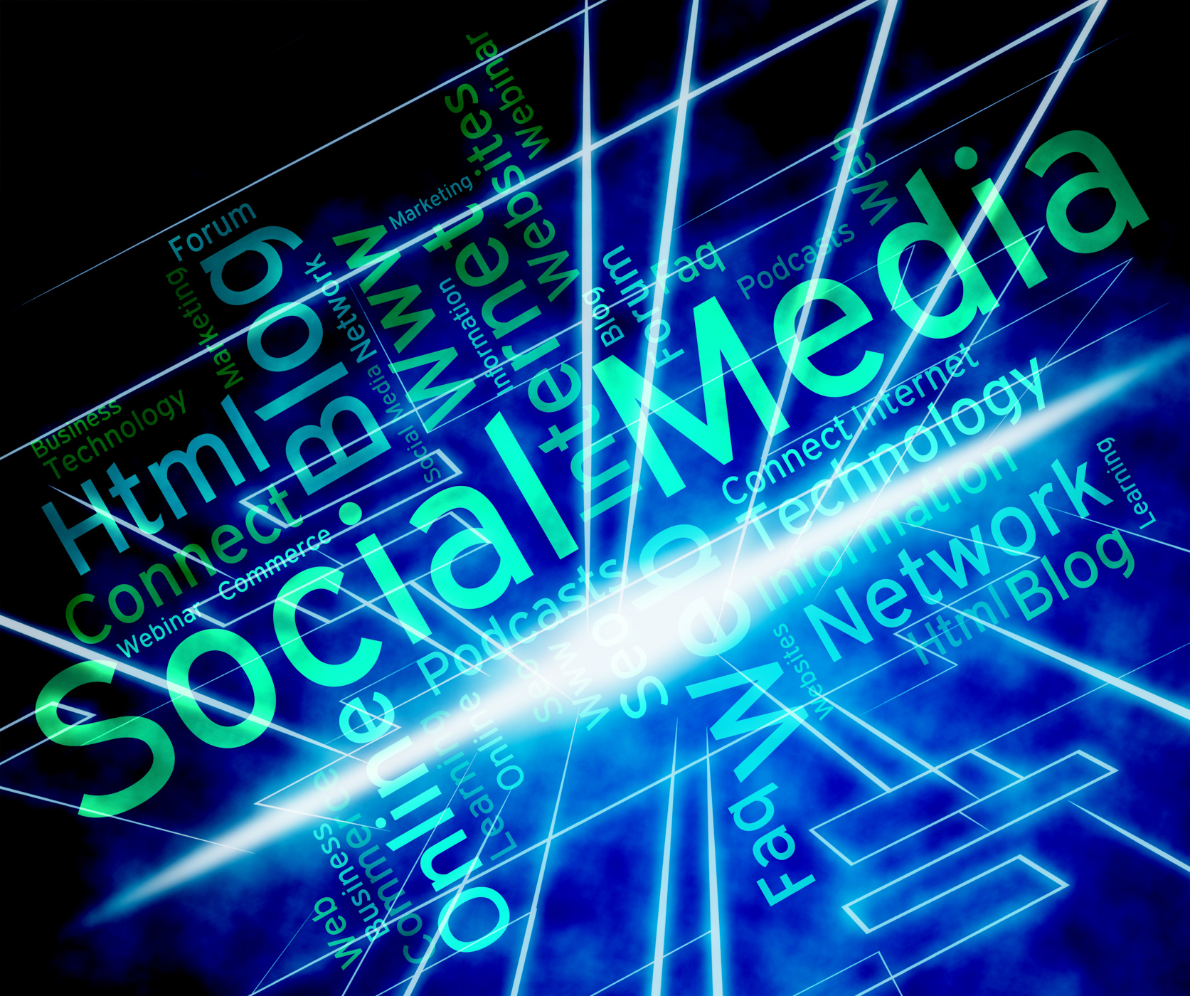 Social media represents news feed and forums photo