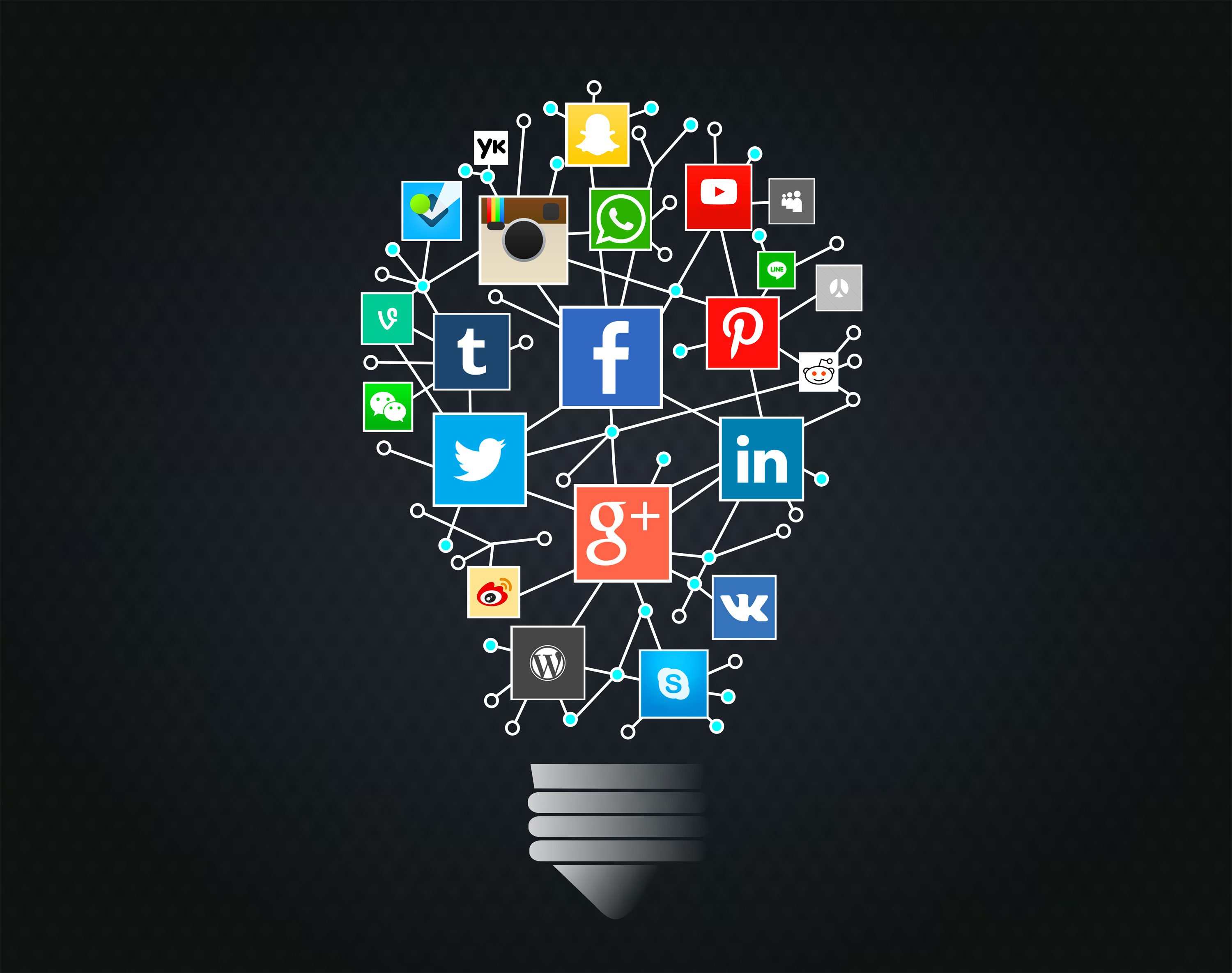 Social Networks Idea with Lightbulb, Modern, Pinterest, Phone, Person, HQ Photo