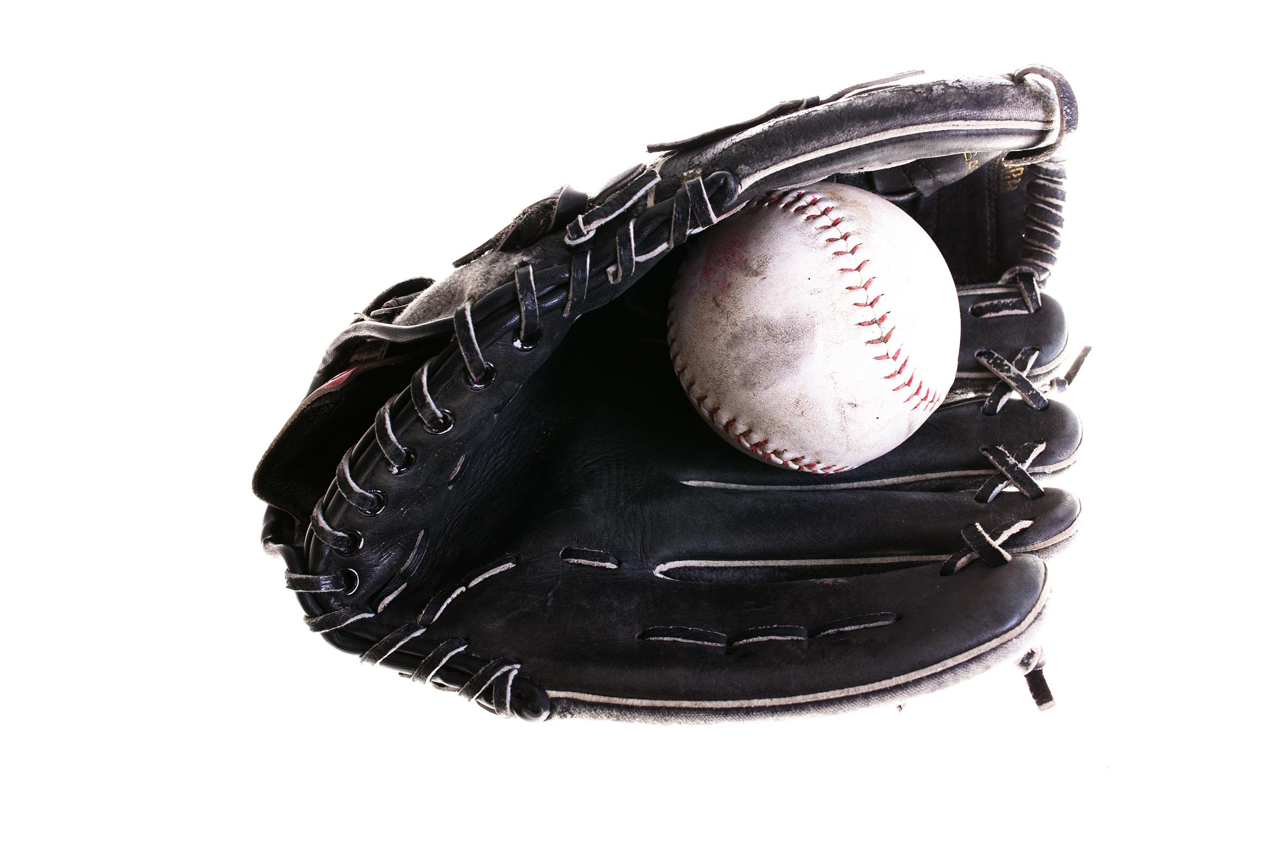 Softball and glove, Baseball, Leisure, Summer, Sports, HQ Photo