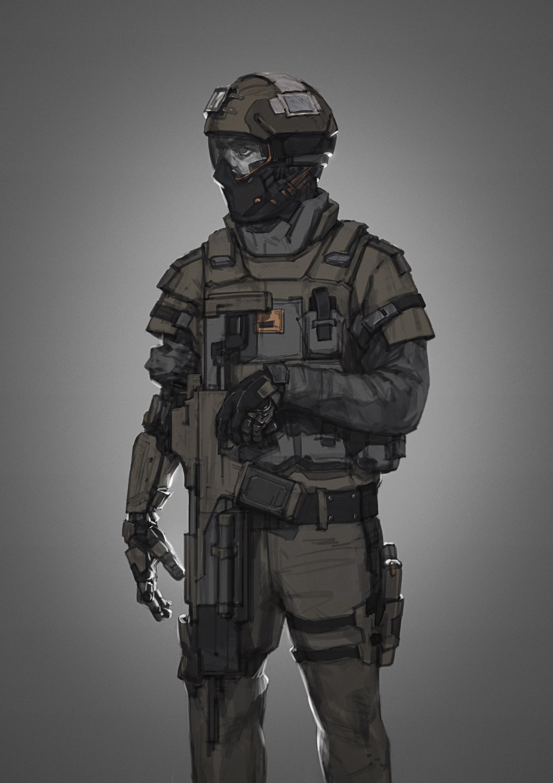 Soldier art photo