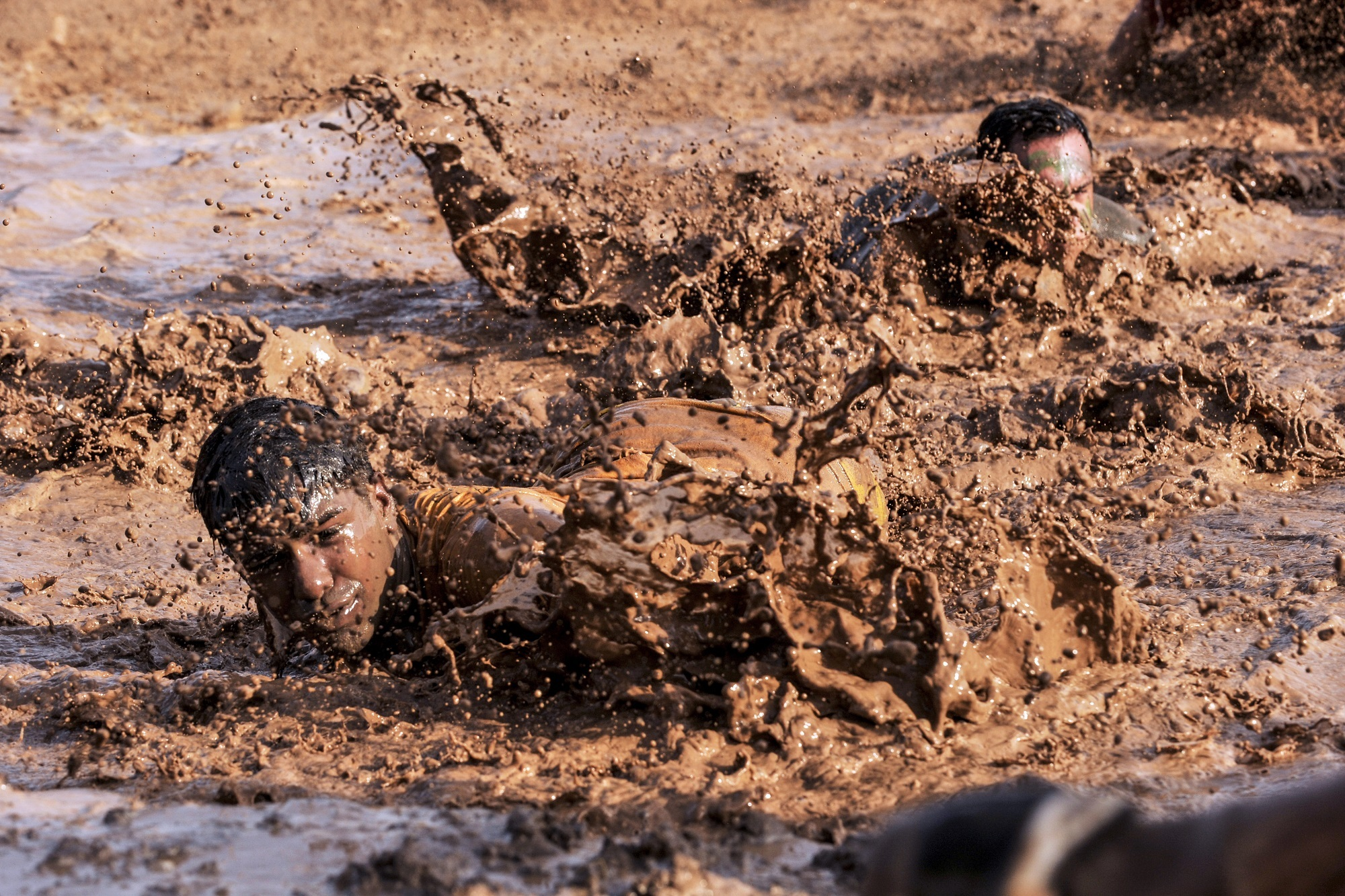 Soldiers in the mud photo