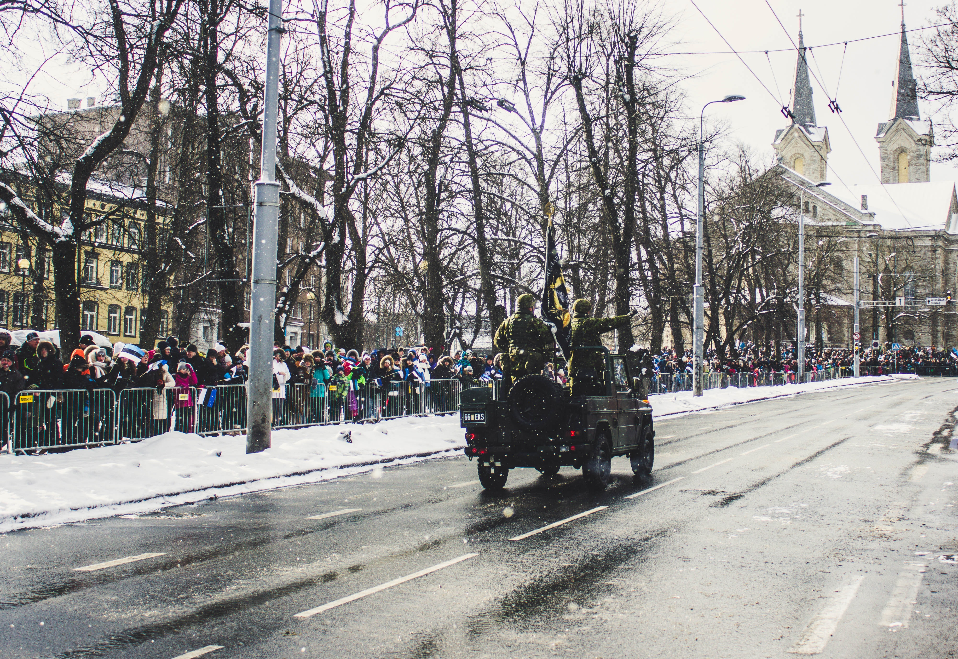 Soldiers Riding a Vehicle during a Parade, Army, People, Wear, Vehicle, HQ Photo