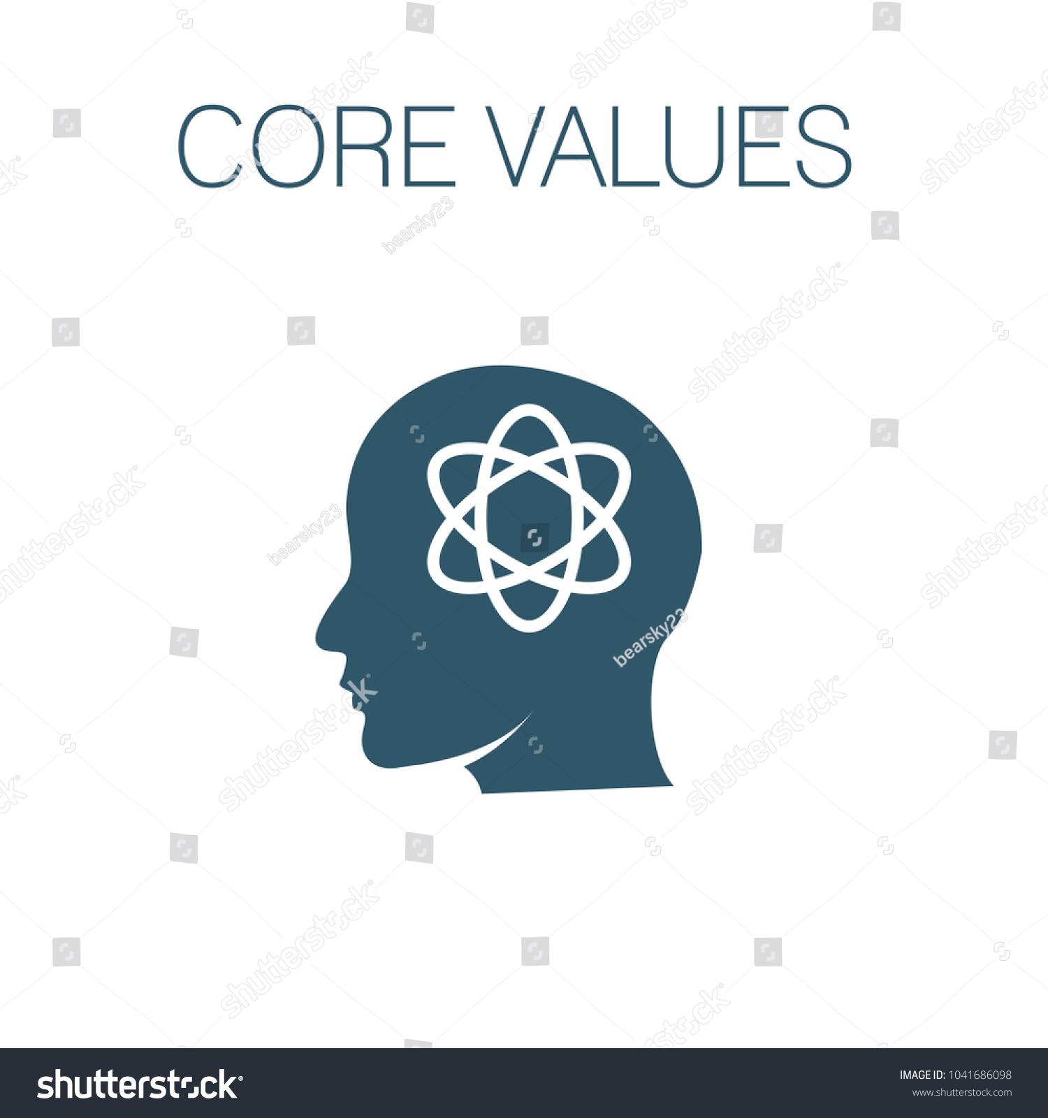 Core Values Solid Icon W Person Stock Vector (2018) 1041686098 ...