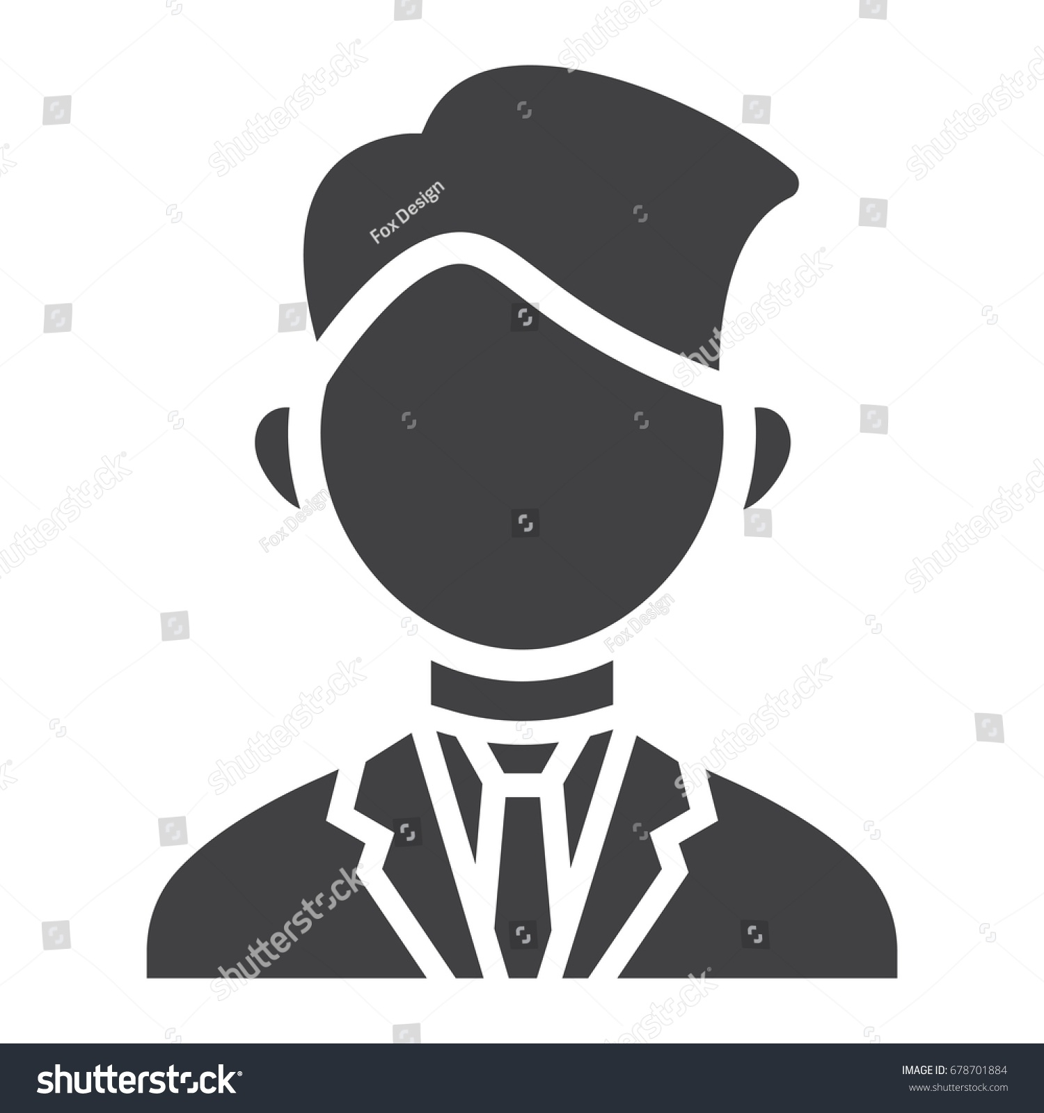 Businessman Solid Icon Business Person Vector Stock Photo (Photo ...