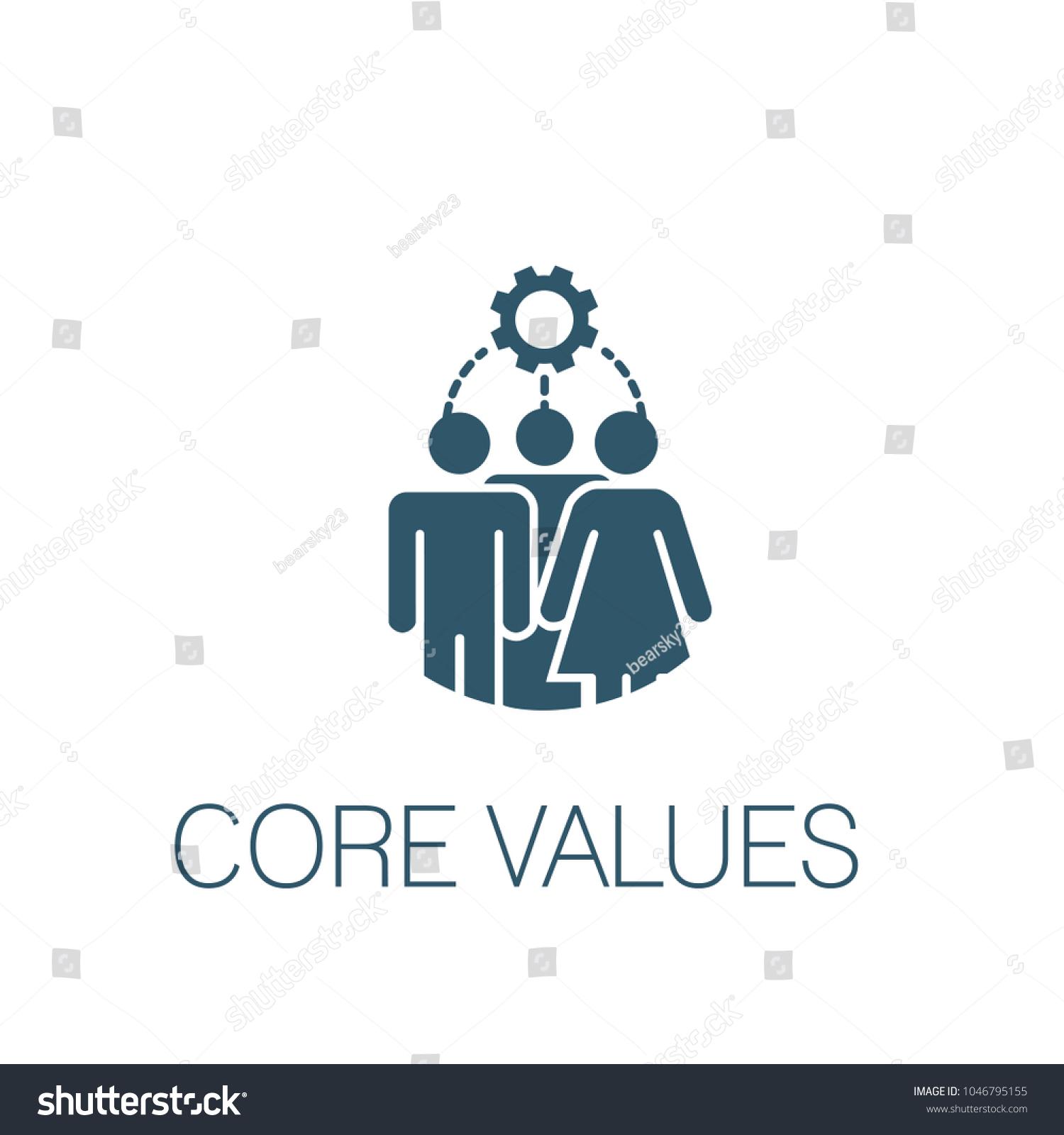 Core Values Solid Icon W Person Stock Vector 1046795155 - Shutterstock