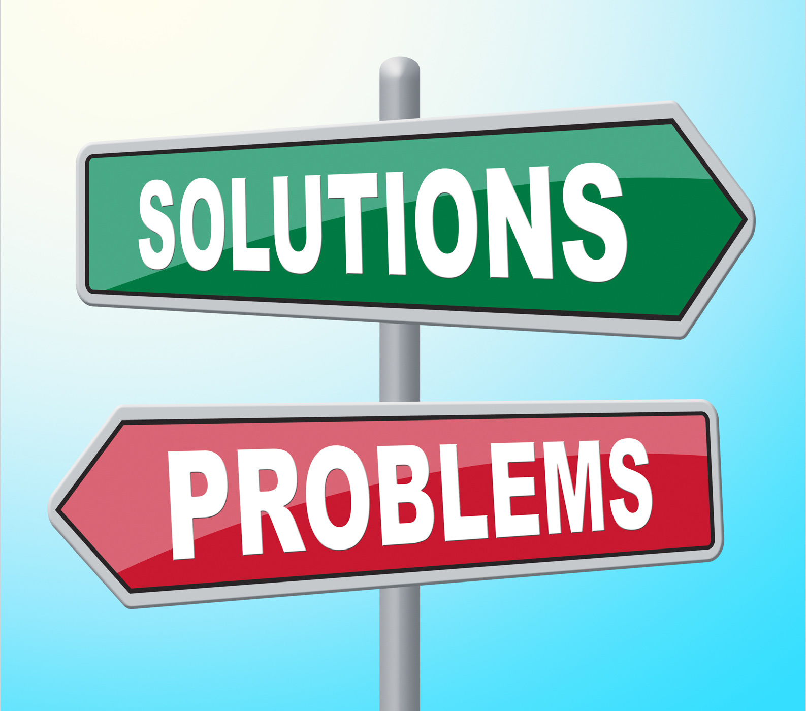 Solutions problems means difficult situation and achievement photo