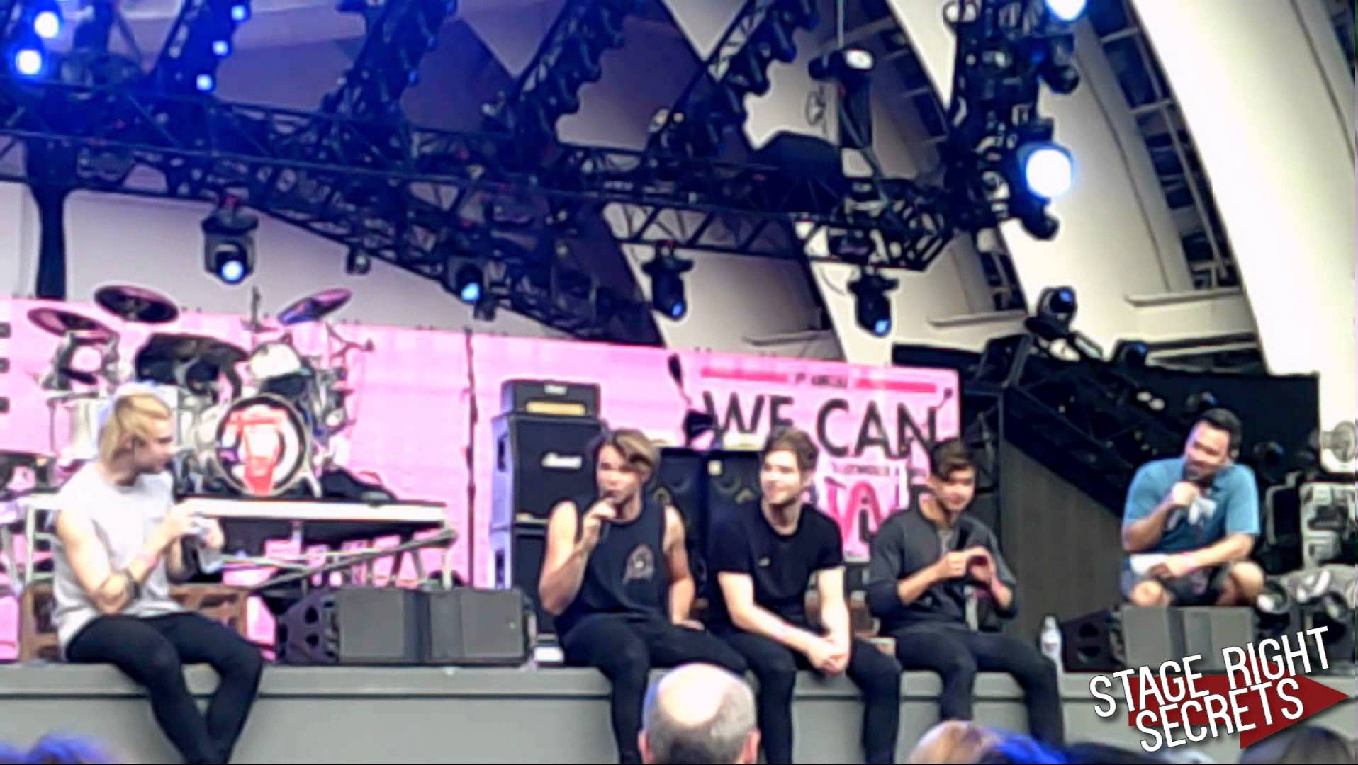 5 Seconds of Summer We Can Survive Q&A Soundcheck - YouTube