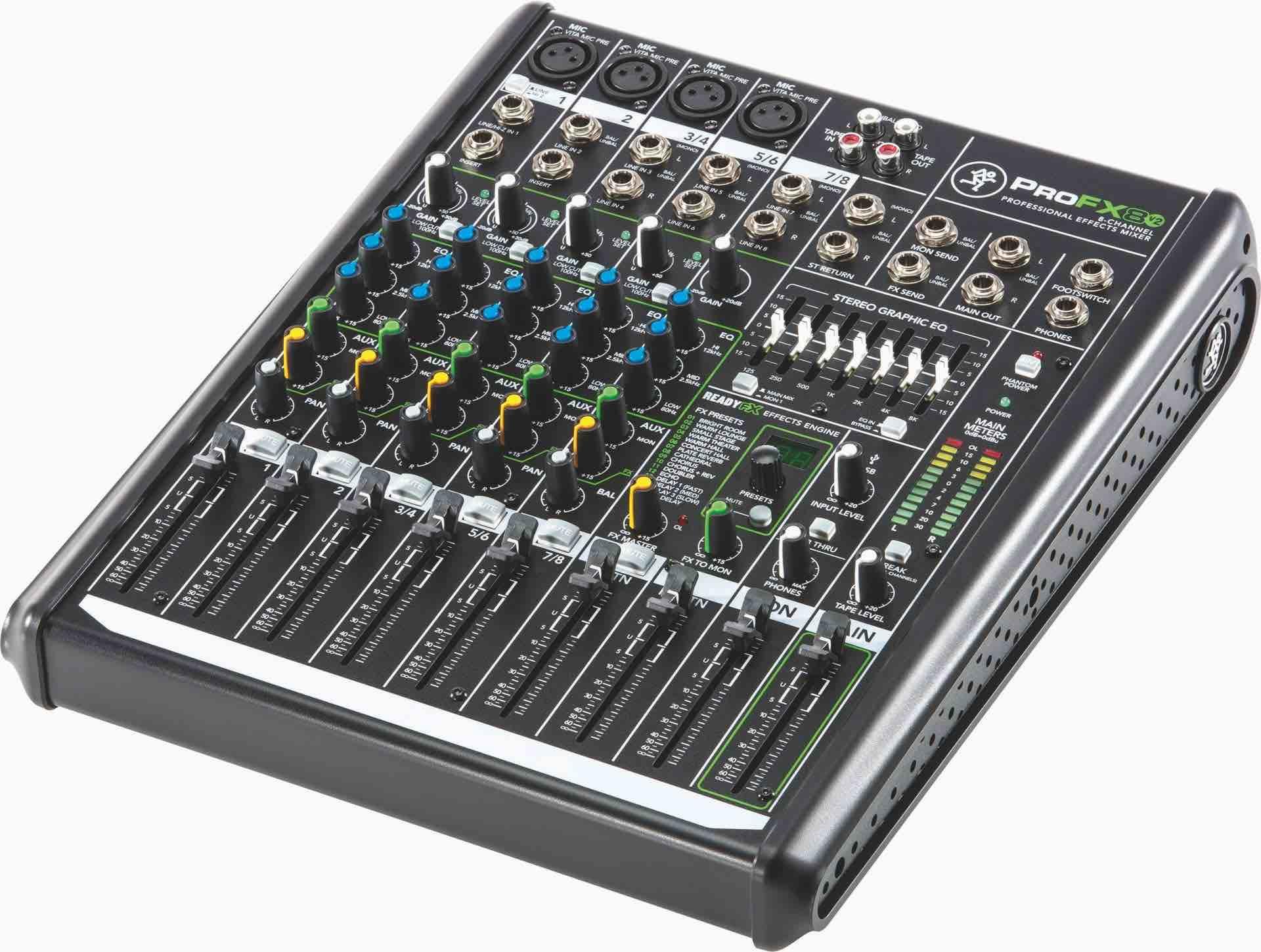 Mackie ProFX8v2 8-Channel Desktop Mixer - Westlake Pro