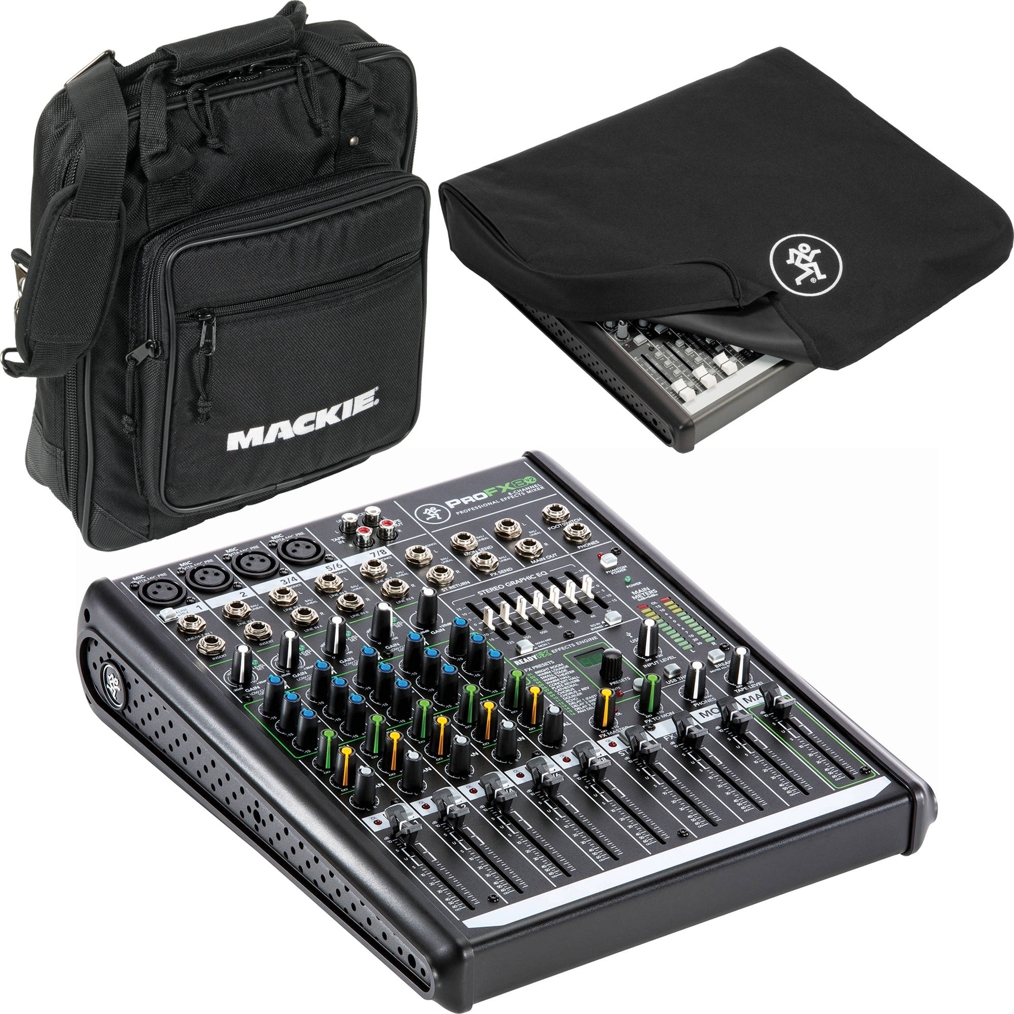 Mackie ProFX8v2 - 8-Channel Live Sound Mixer with Carrying Bag