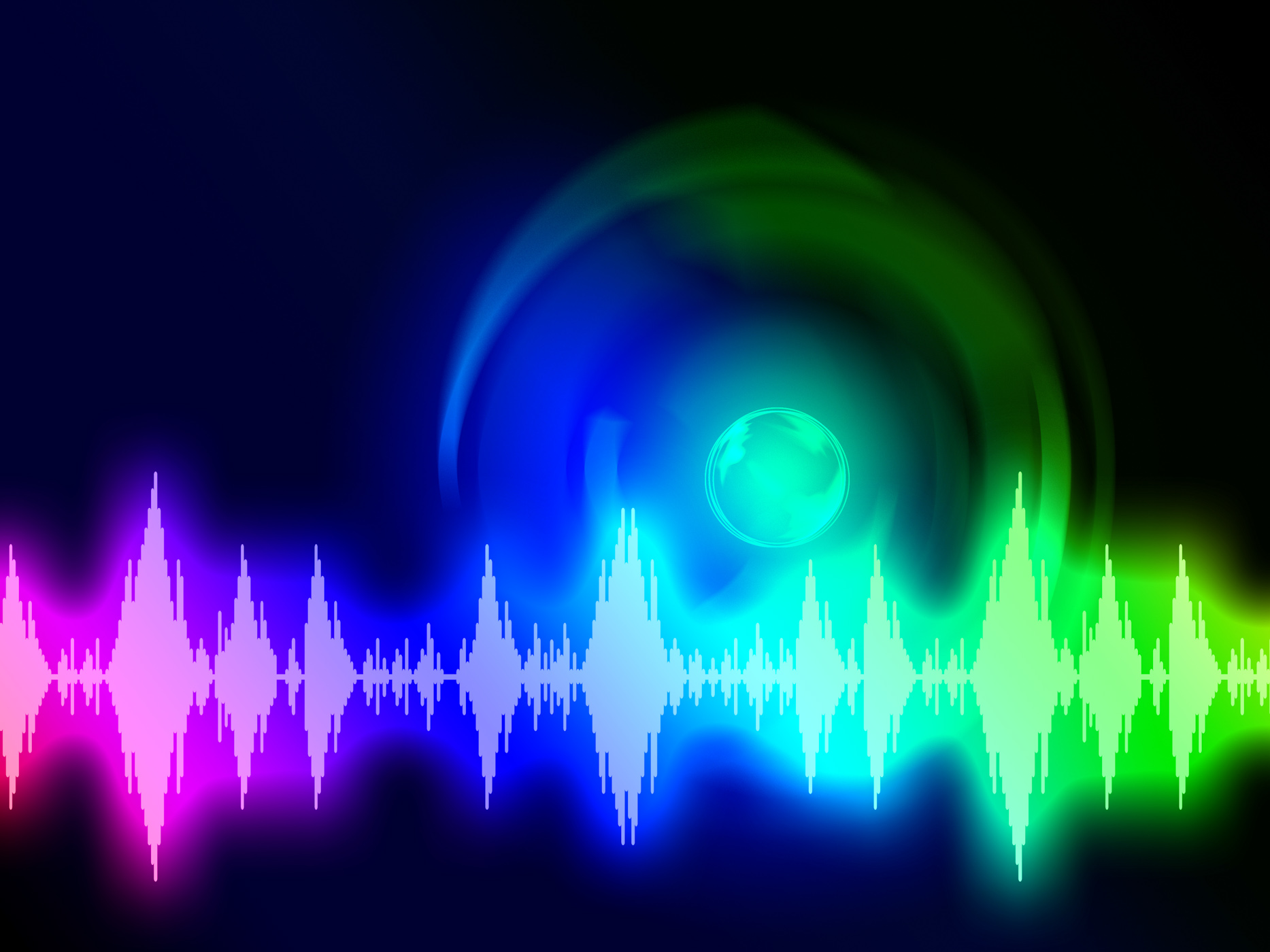 Sound wave background shows audio spectrum or energy photo