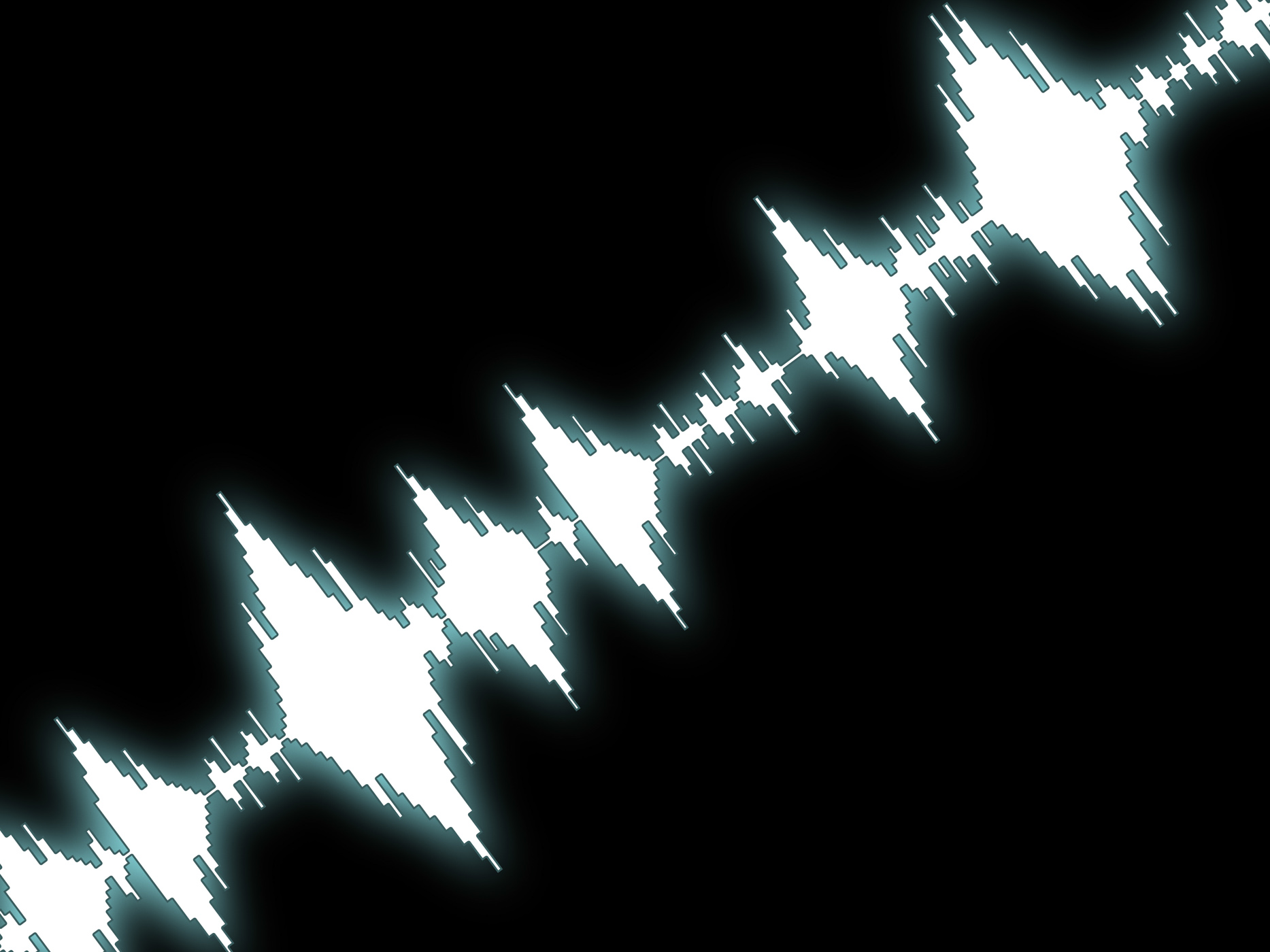 Sound wave background shows equalizer or amplifier photo