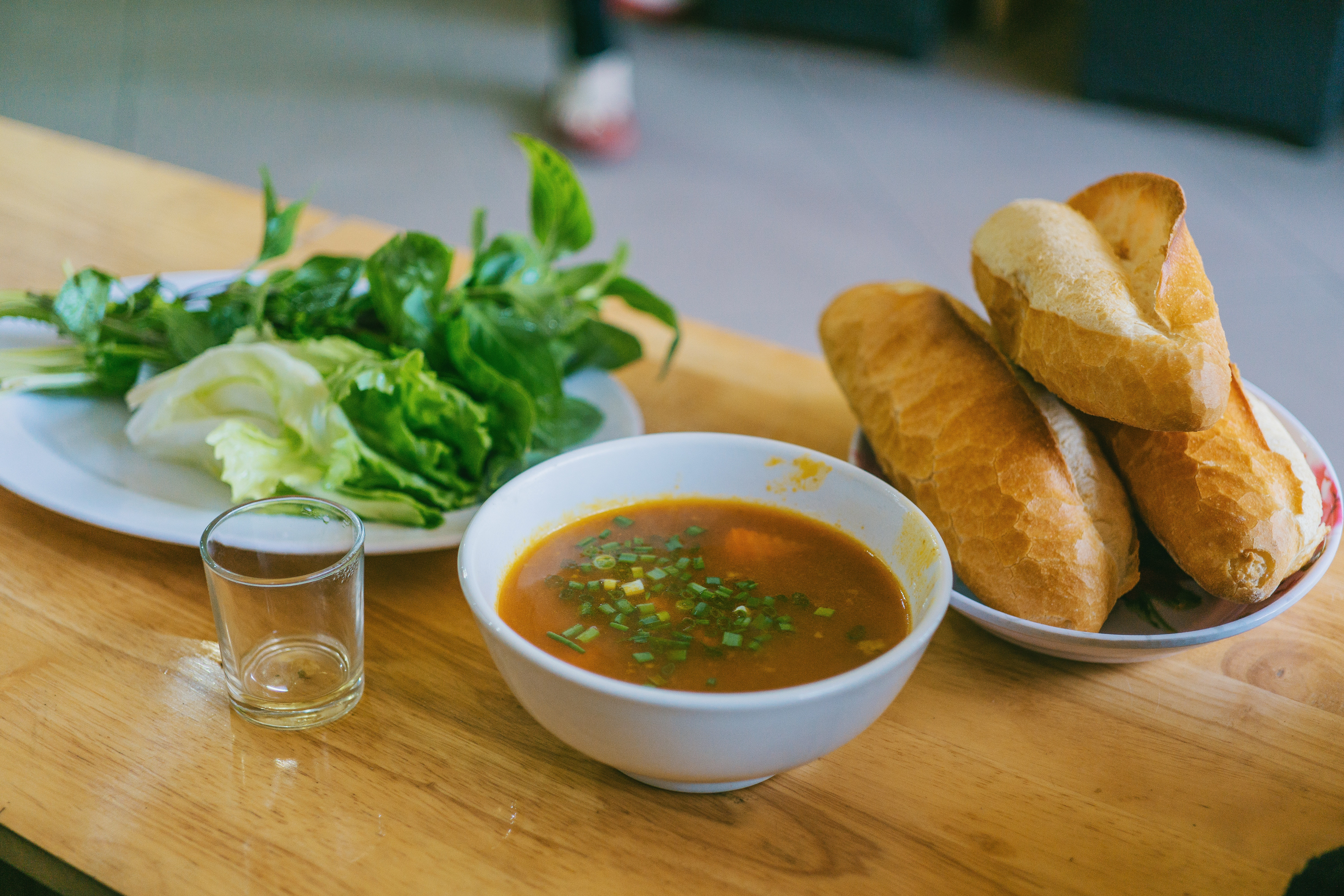 Soup with onion and meat photo
