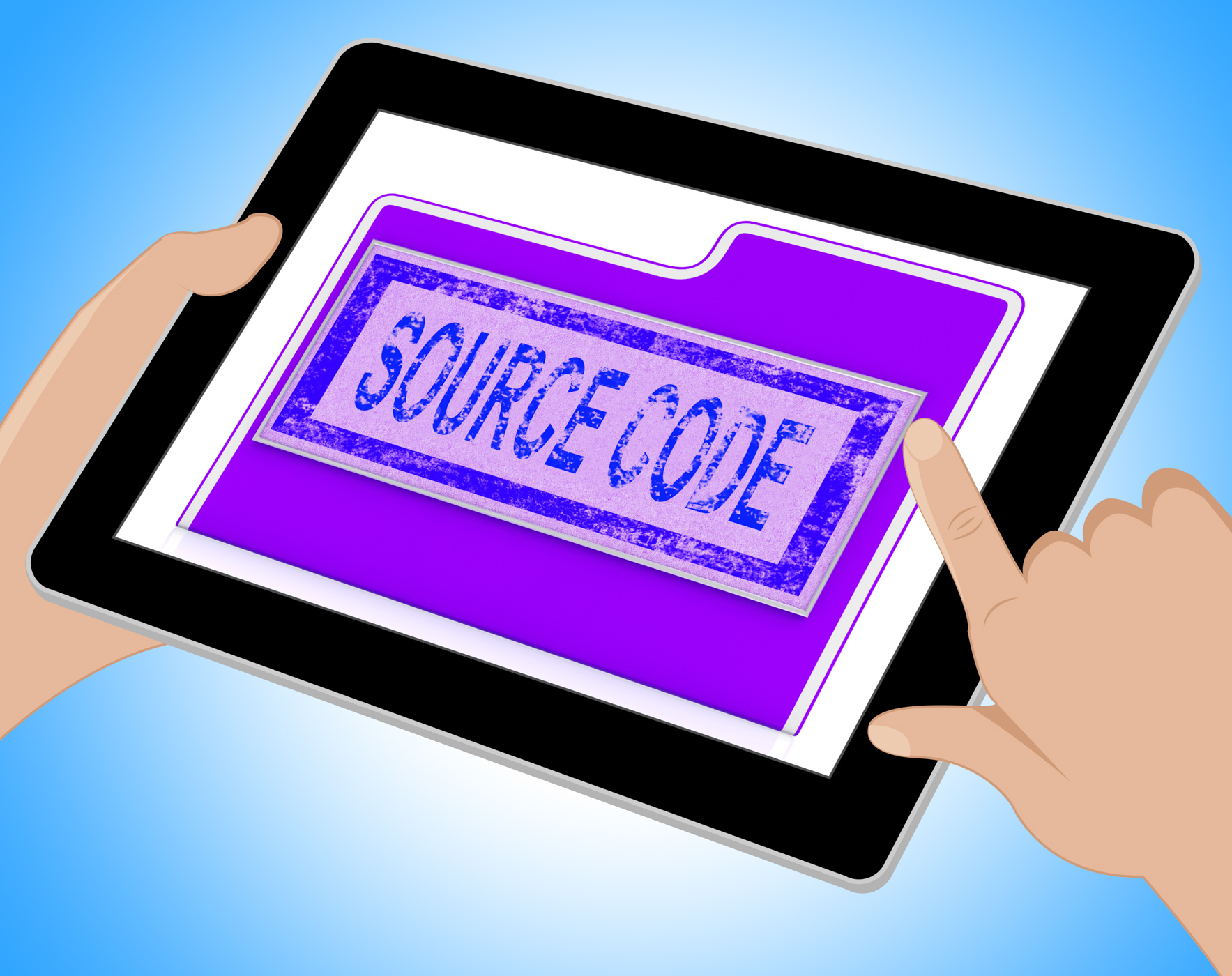 Source code indicates administration organized and computer tablet photo