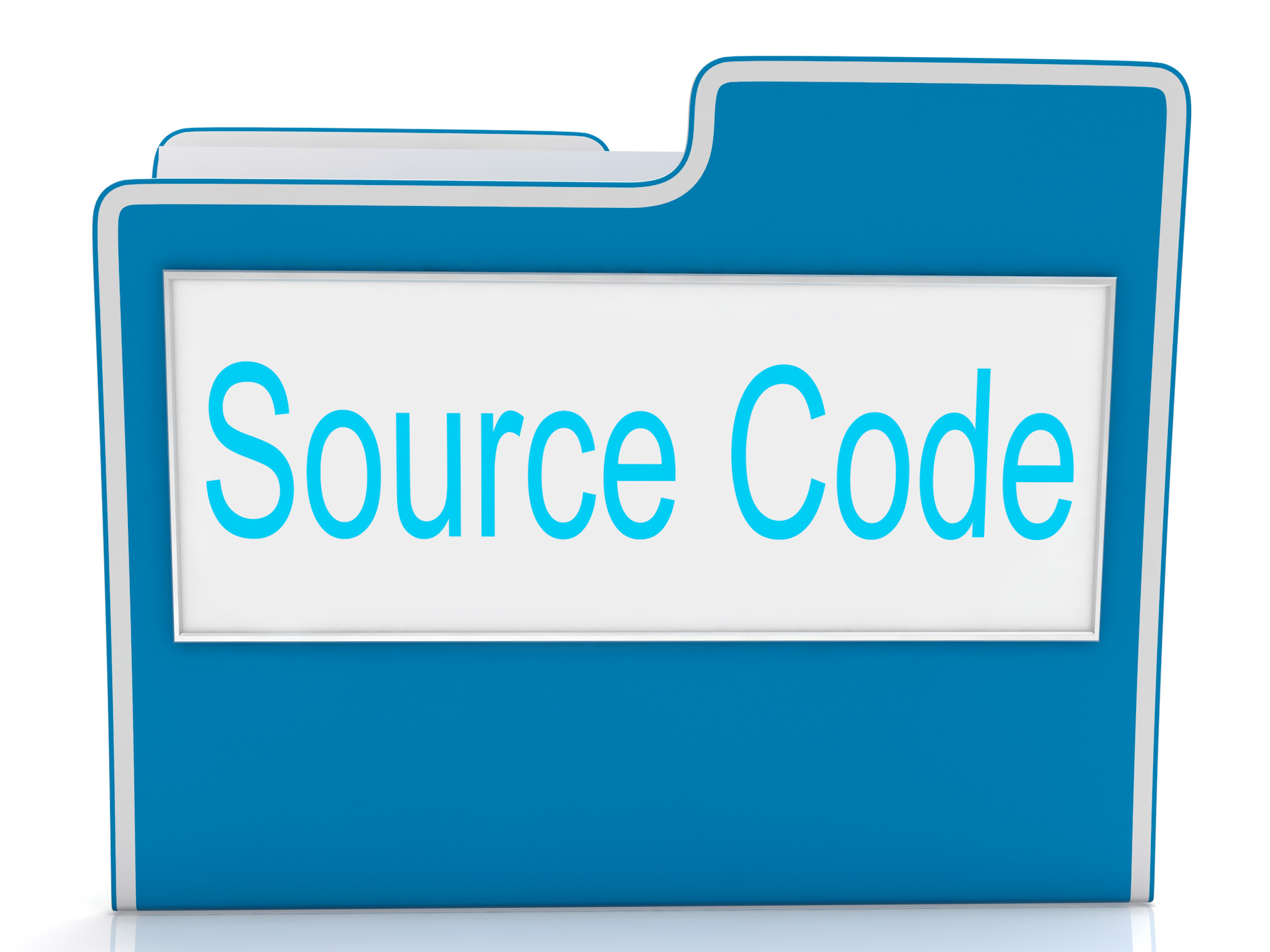 Source code shows document binder and folders photo