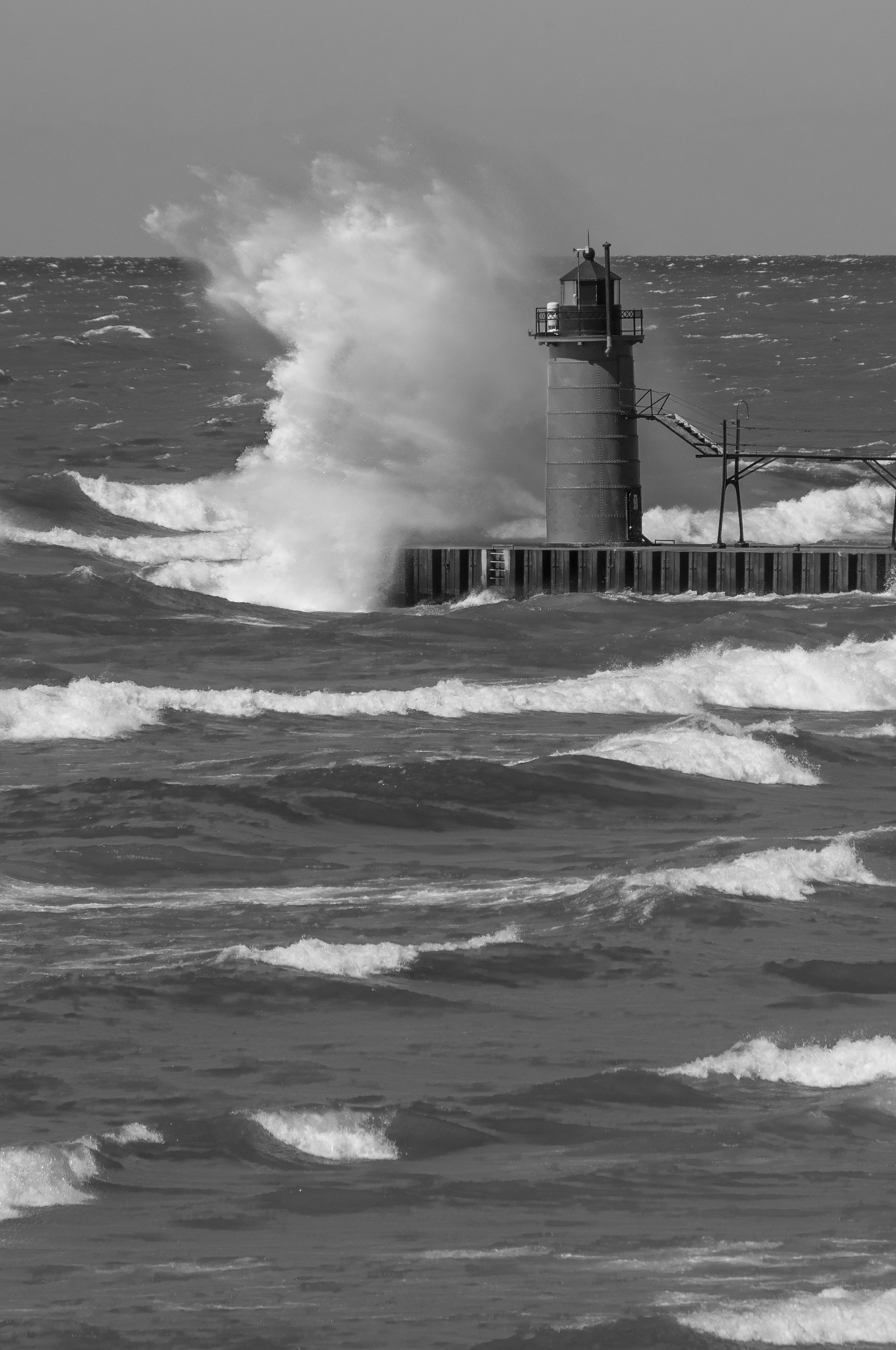 South Haven Lighthouse, Autumn, Beacon, Fall, Gale, HQ Photo