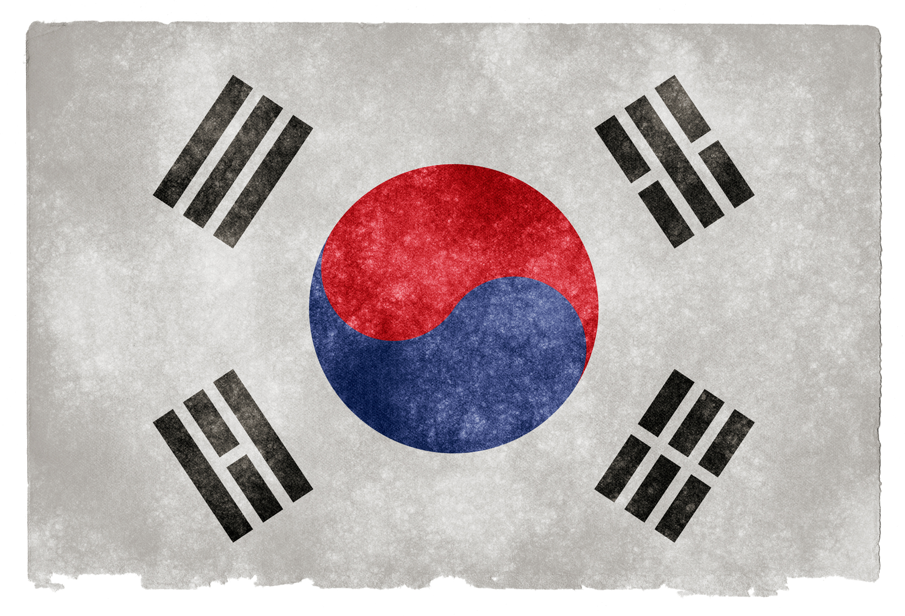 South korea grunge flag photo