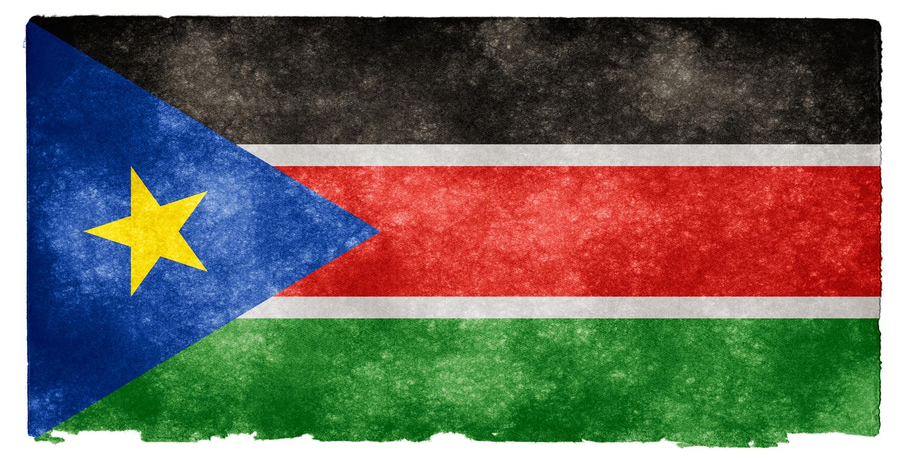 South sudan grunge flag photo