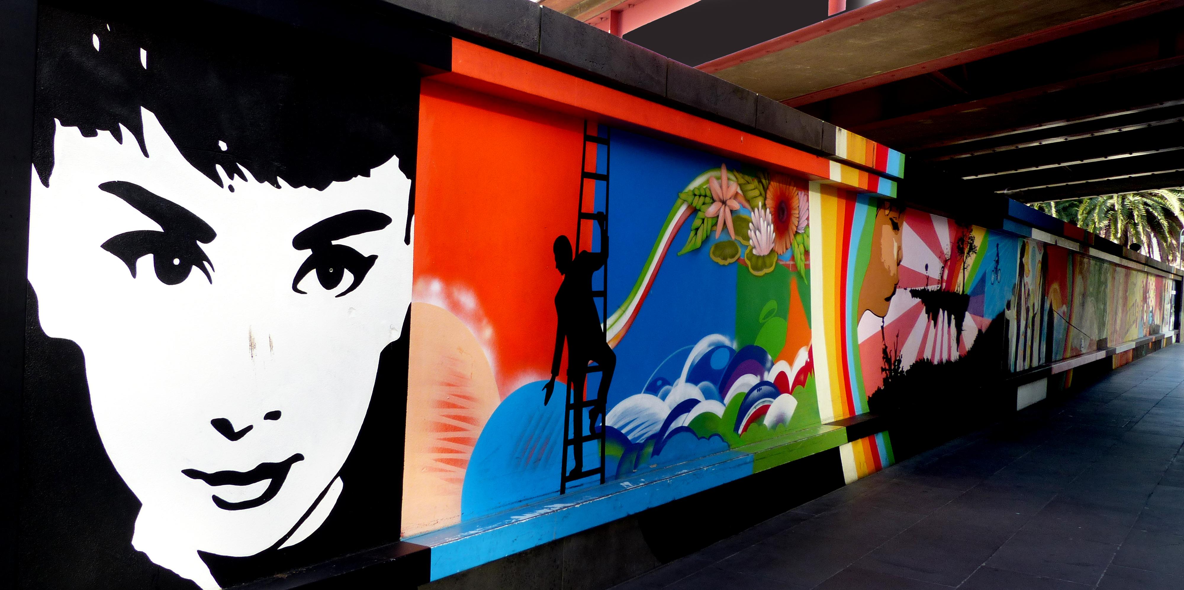 Southbank mural. melbourne. photo
