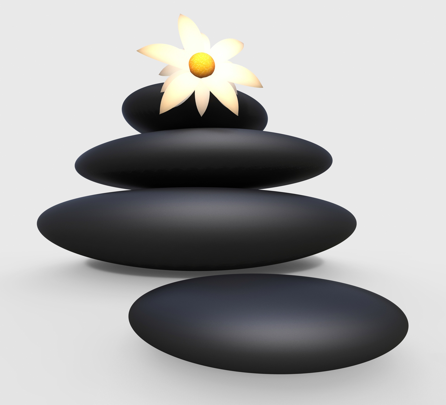 Spa stones represents harmony nature and relaxation photo
