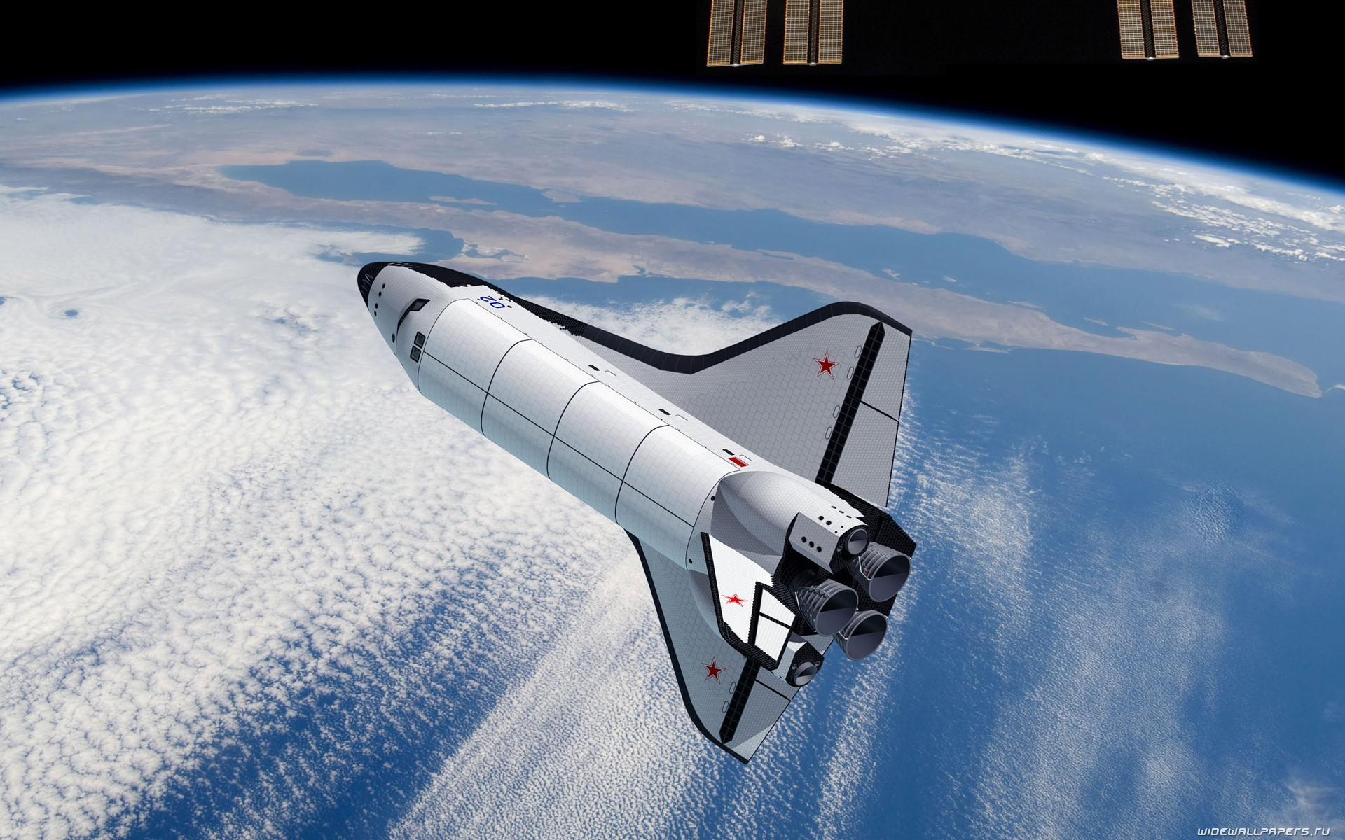 The spacecraft returns to Earth wallpapers and images - wallpapers ...