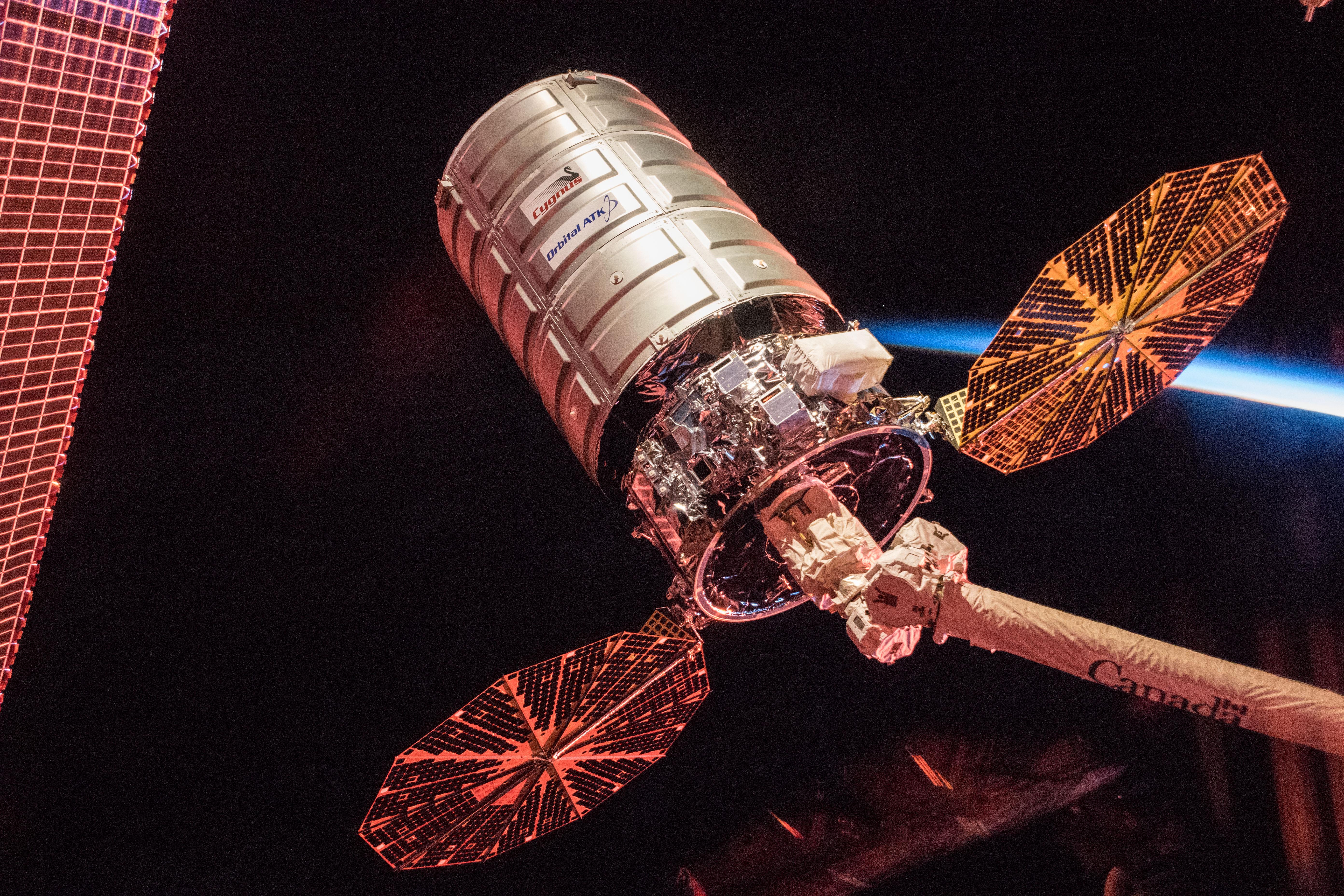 Cygnus Cargo Spacecraft at Sunrise | NASA