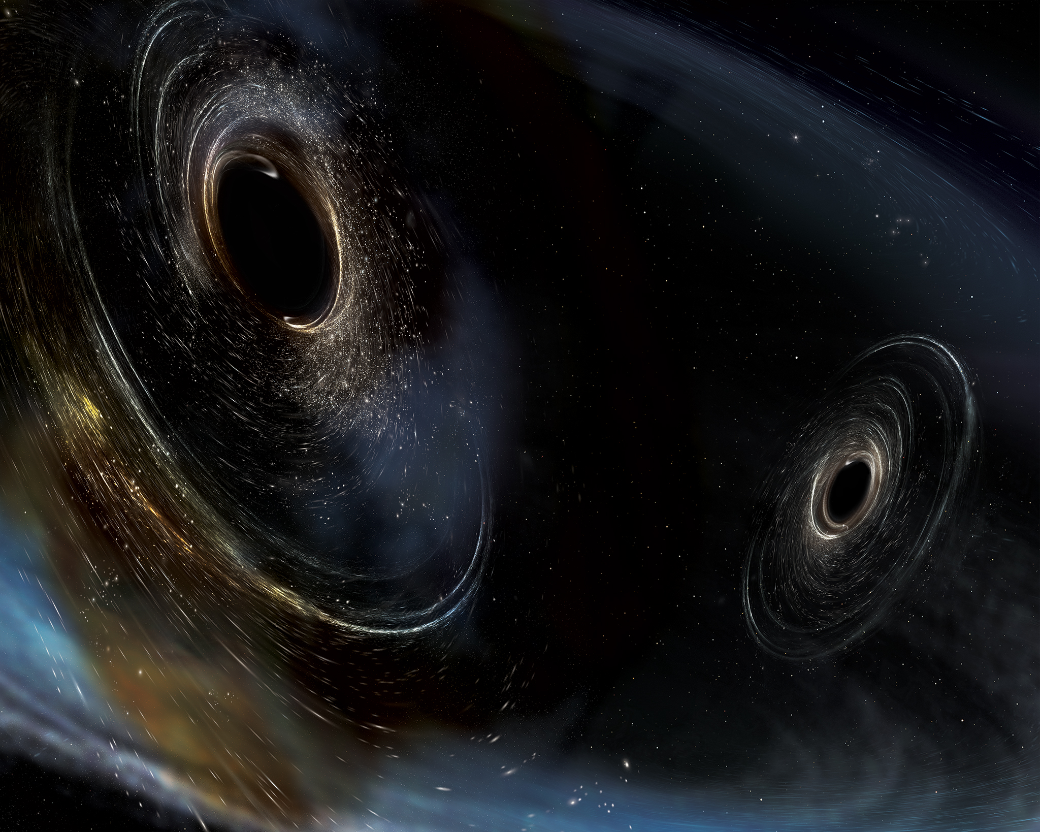 Bizarre Black Holes Revealed by New Space-Time Ripples