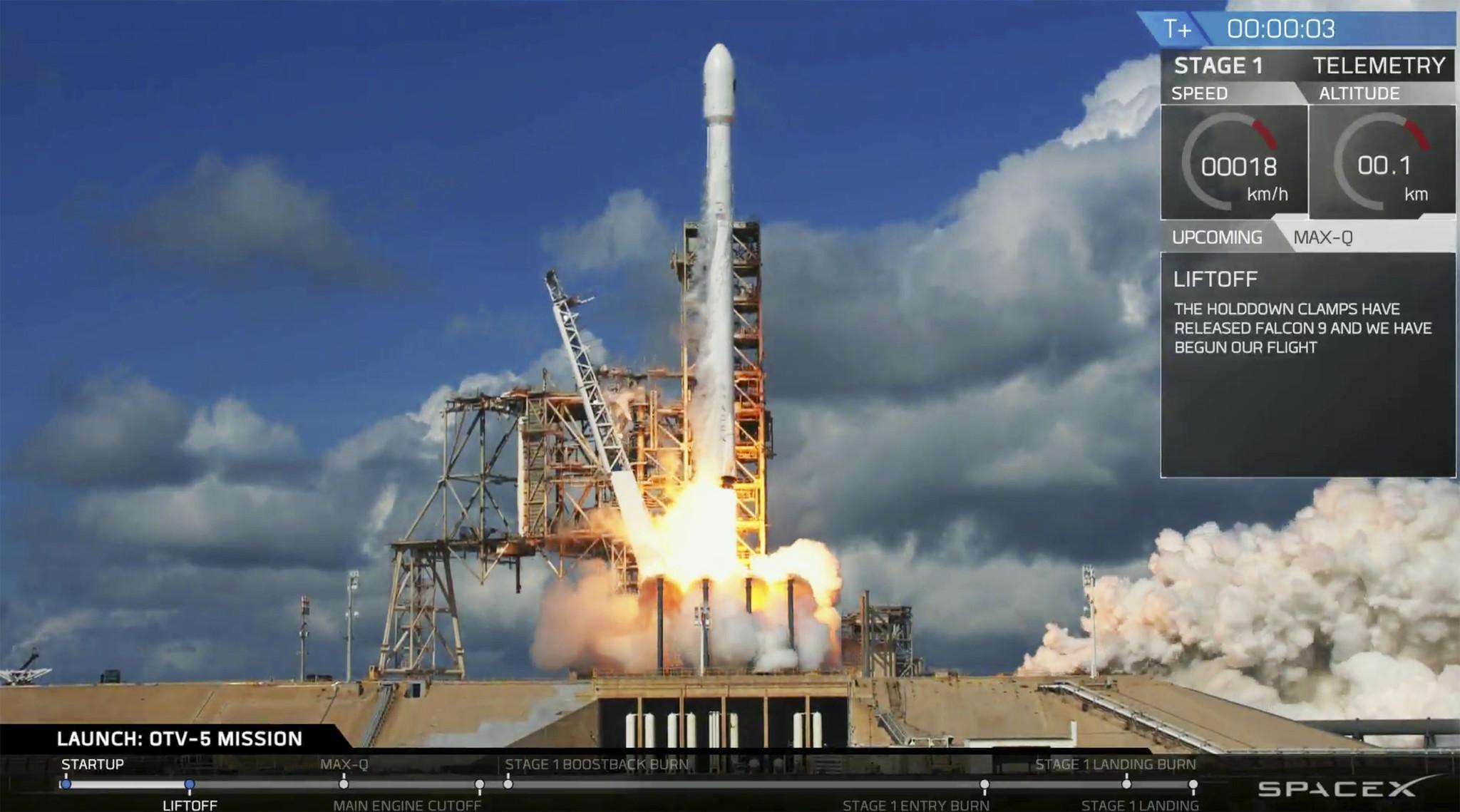 SpaceX launches Air Force's super-secret shuttle - Chicago Tribune