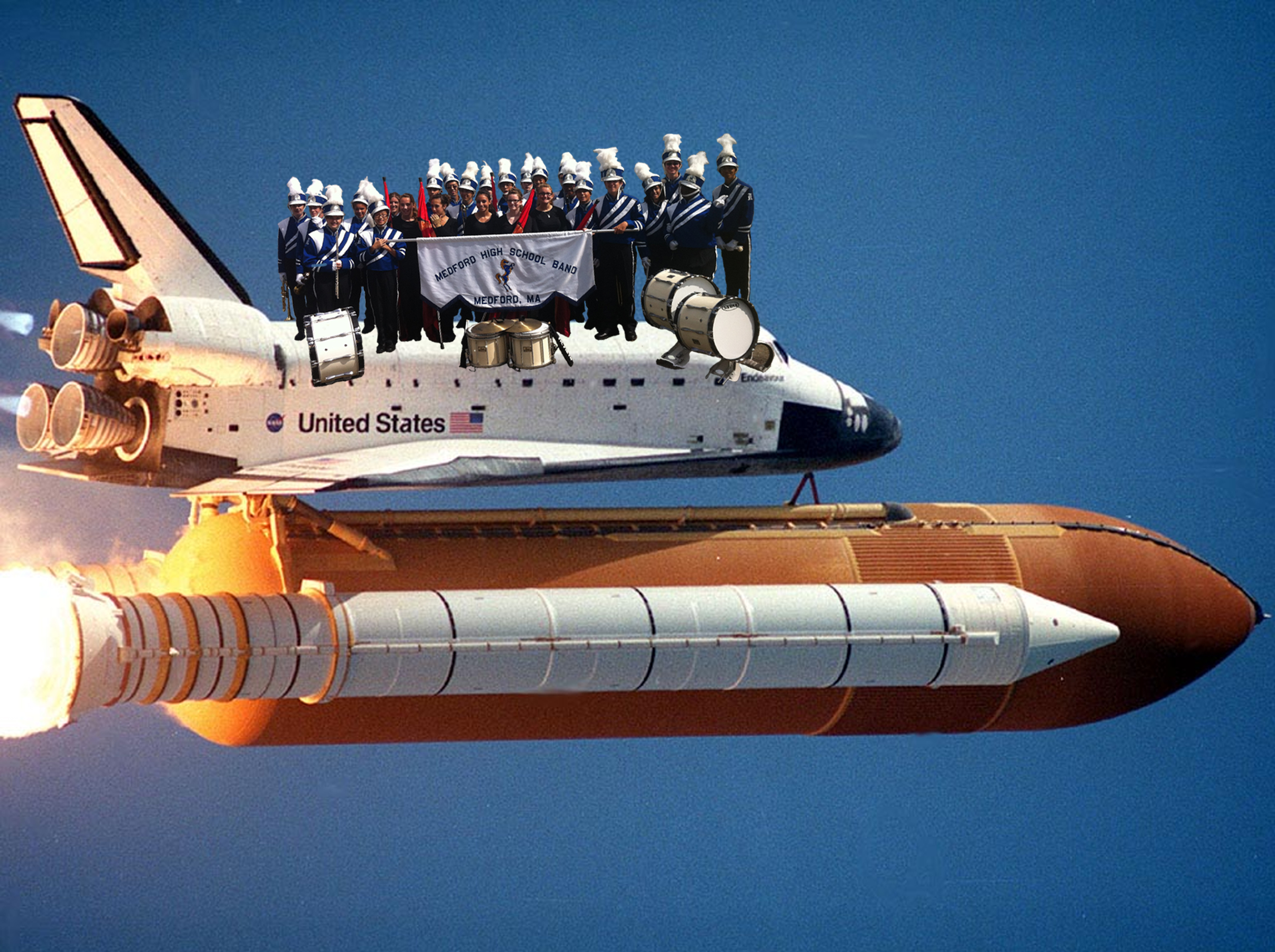 MHS Band on a space shuttle – Medford Band