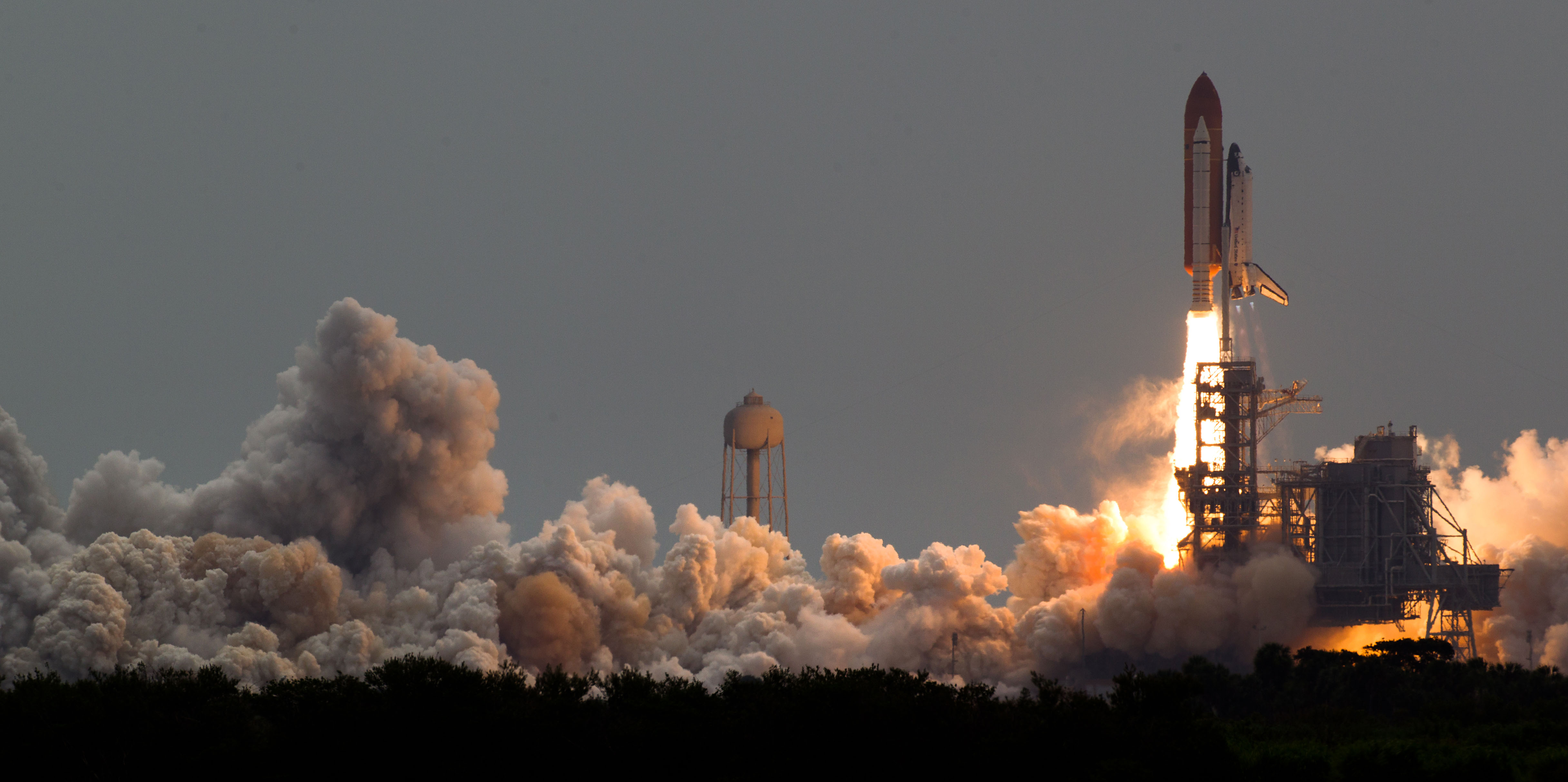 Space shuttle launch photo