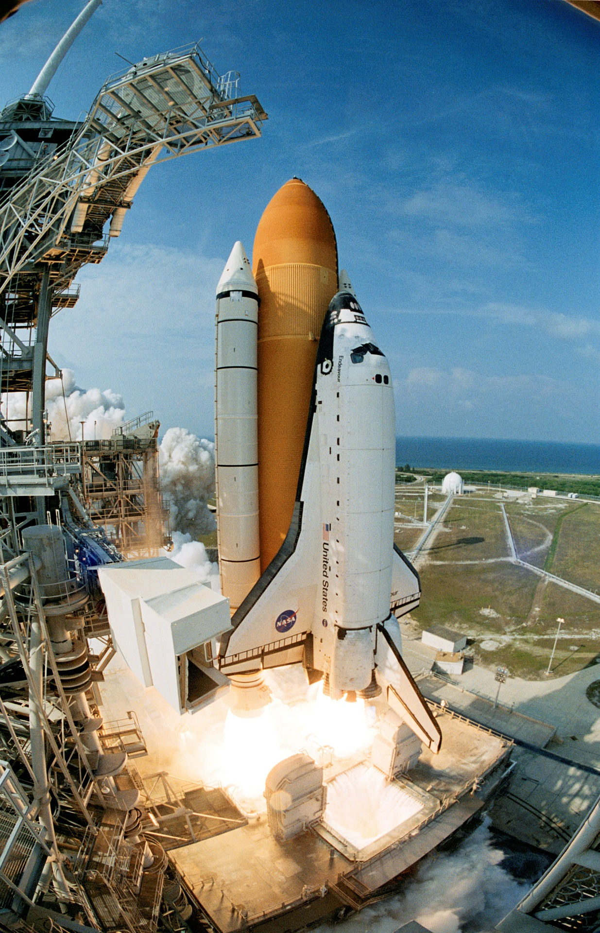 Space Shuttle Launch, Launch, Mission, Nasa, Shuttle, HQ Photo
