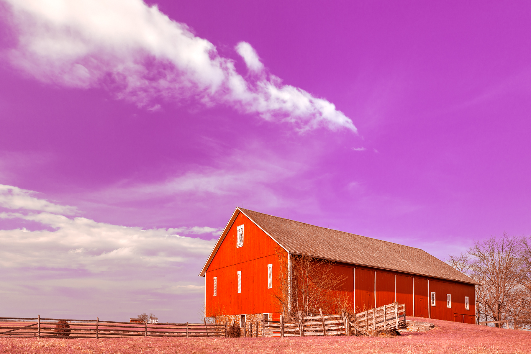 Spangler House Farm - Candy Fantasy HDR, America, Pastels, Rustic, Rural, HQ Photo