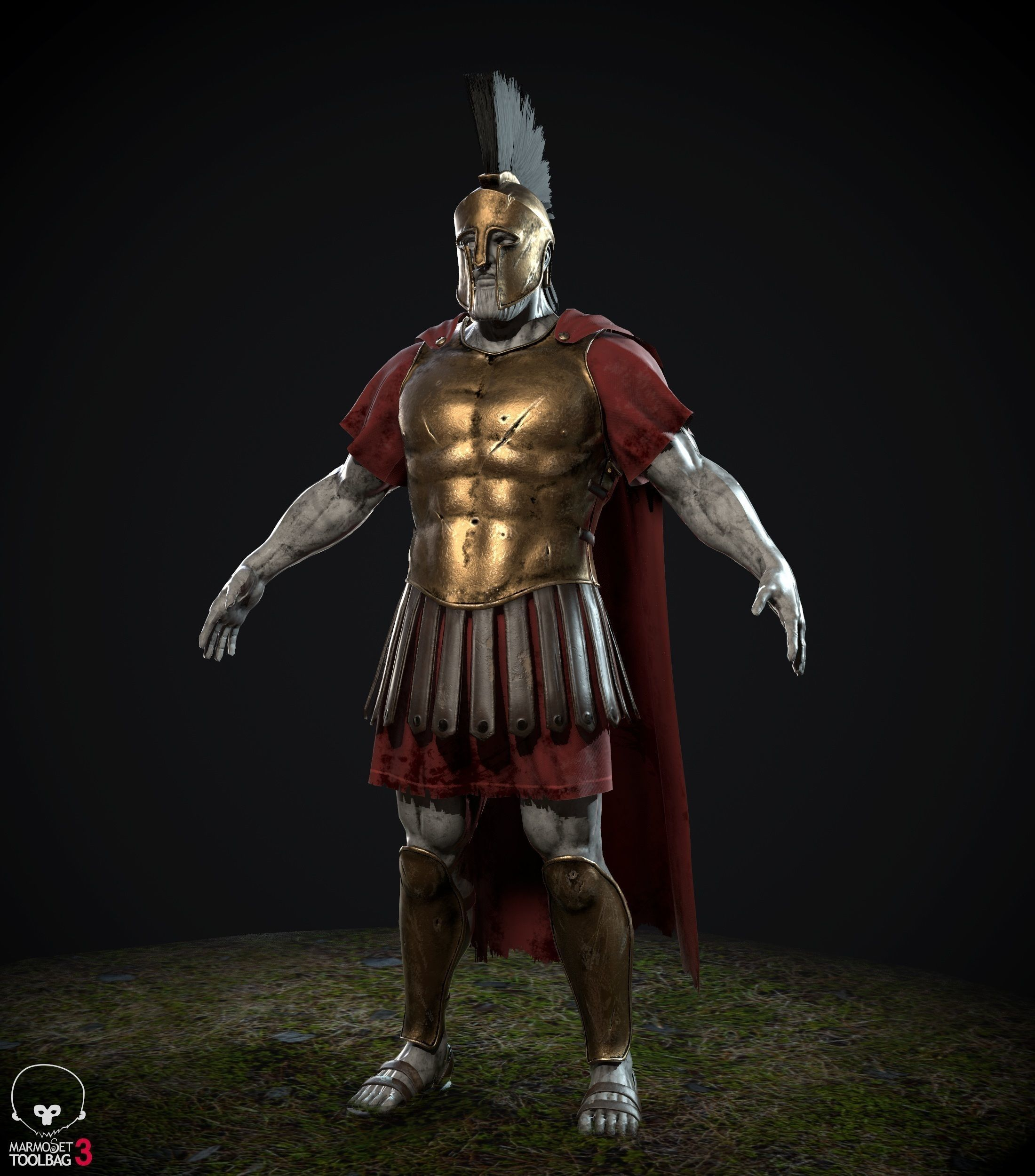 Greek spartan armor 3D model | CGTrader