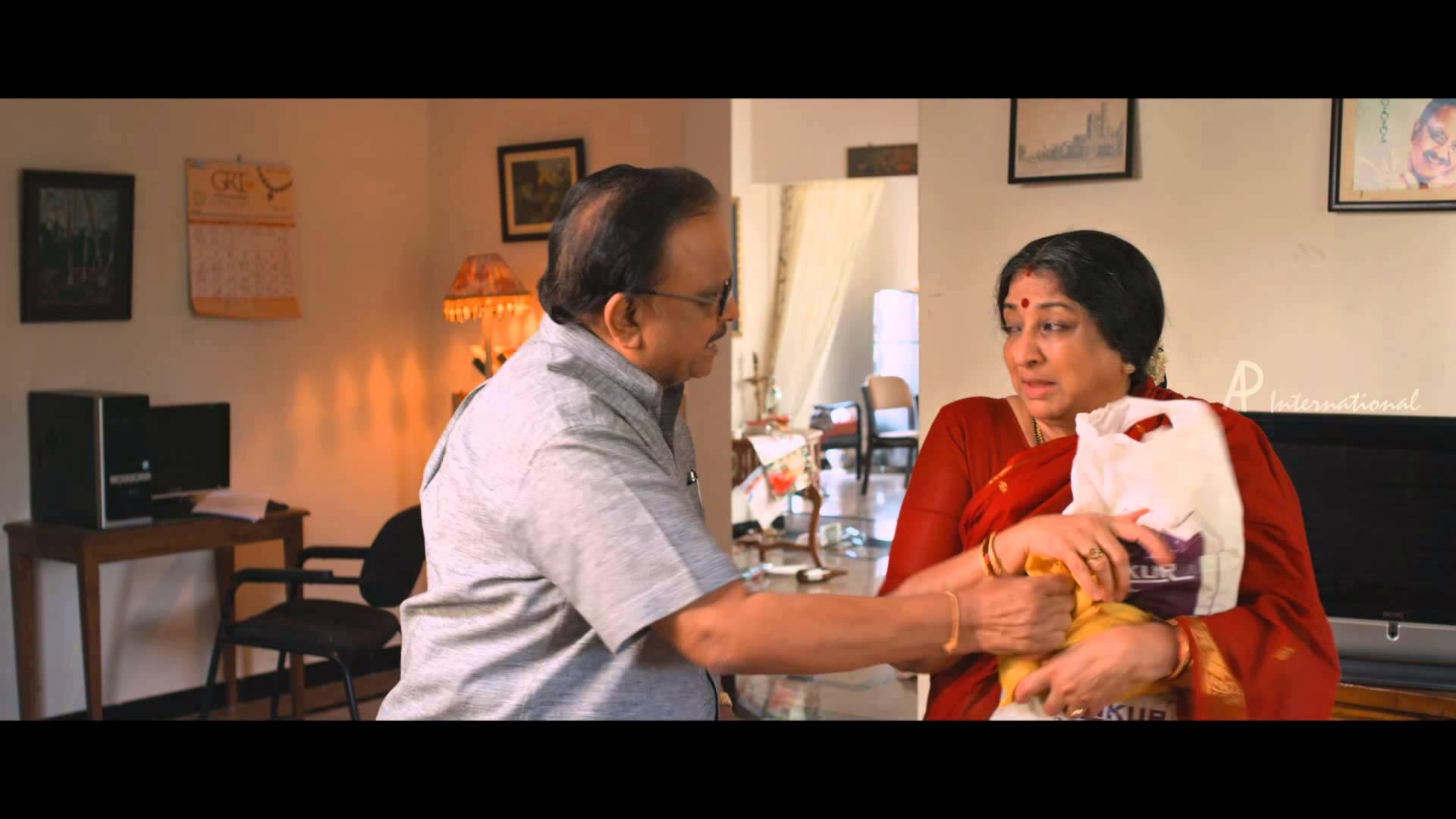 Moone Moonu Varthai Movie | Scenes | Arjun and Lakshmi trick SPB ...