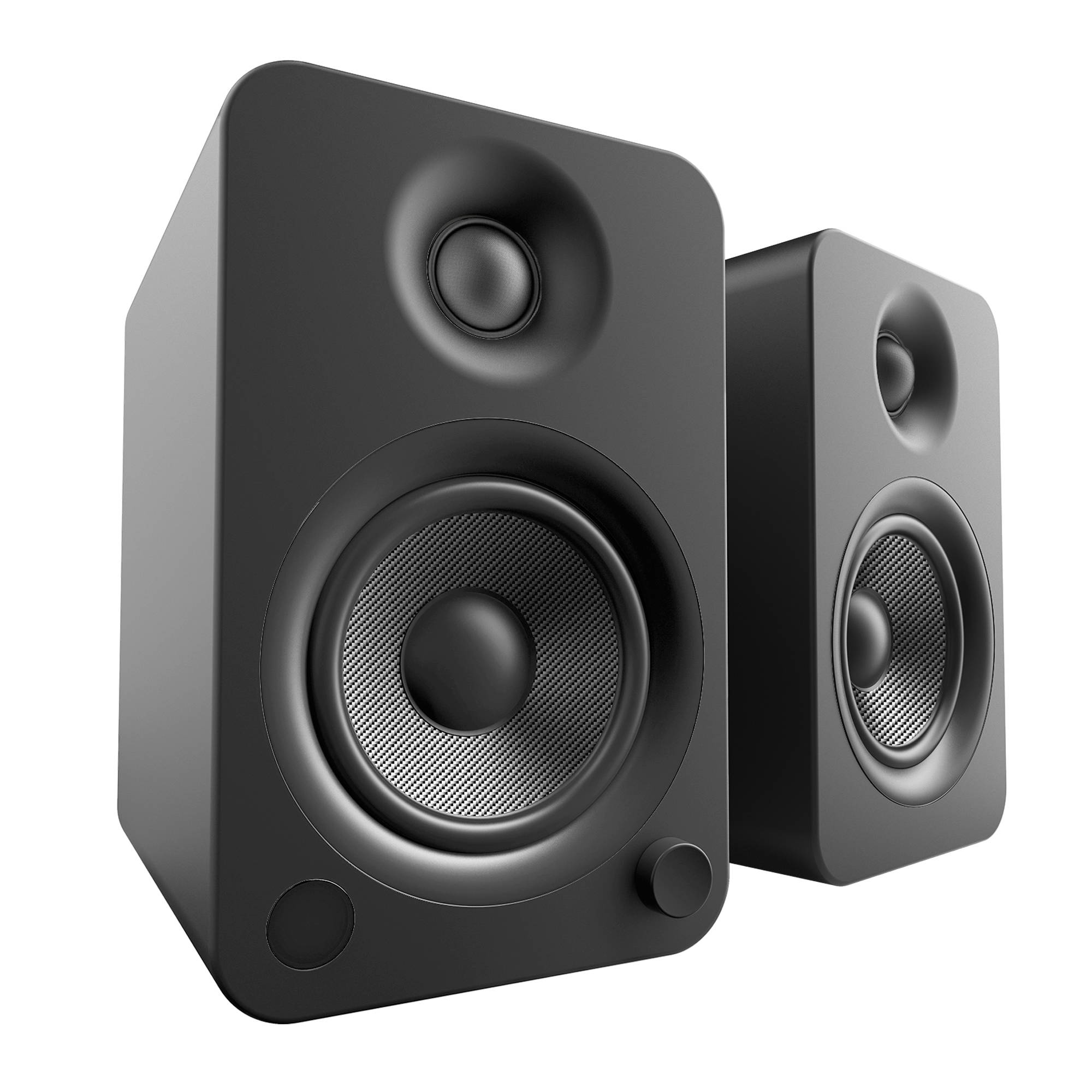 Kanto Living YU4 2-Way Powered Bookshelf Speakers YU4MB B&H