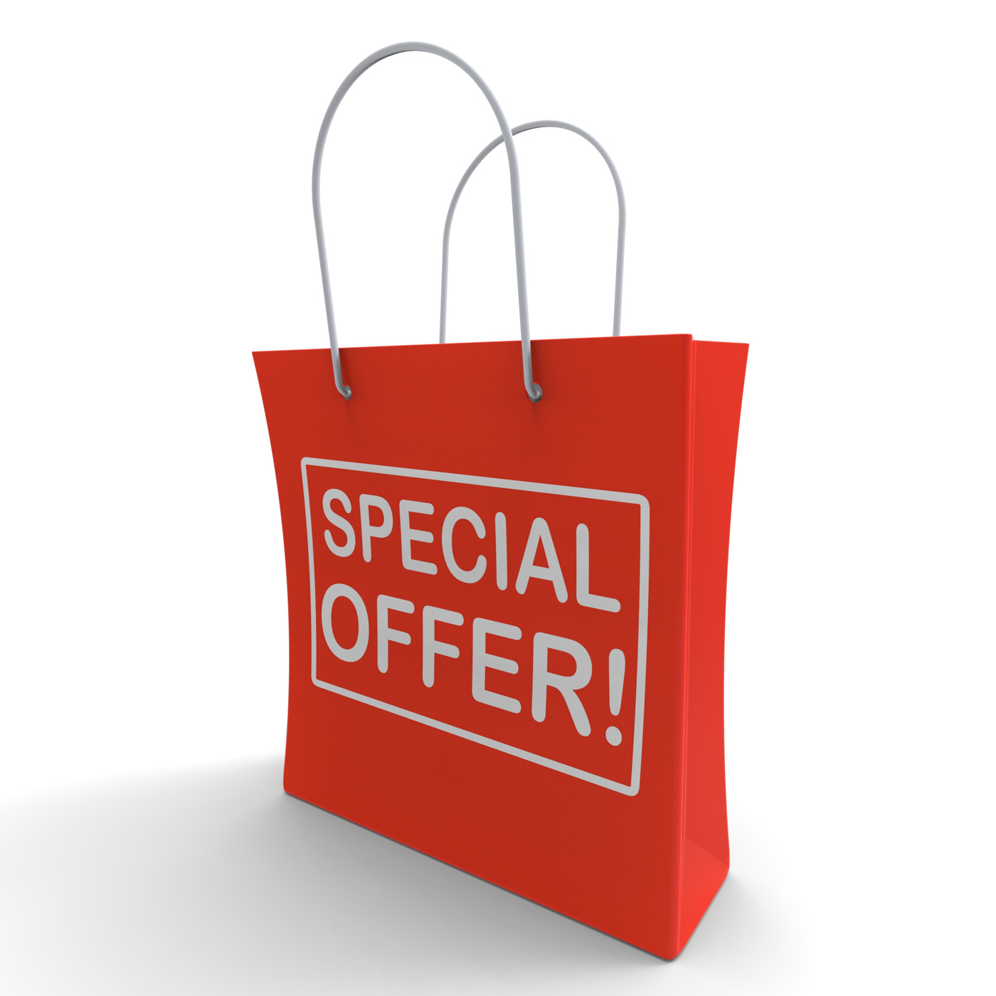 Special offer shopping bag shows bargain photo