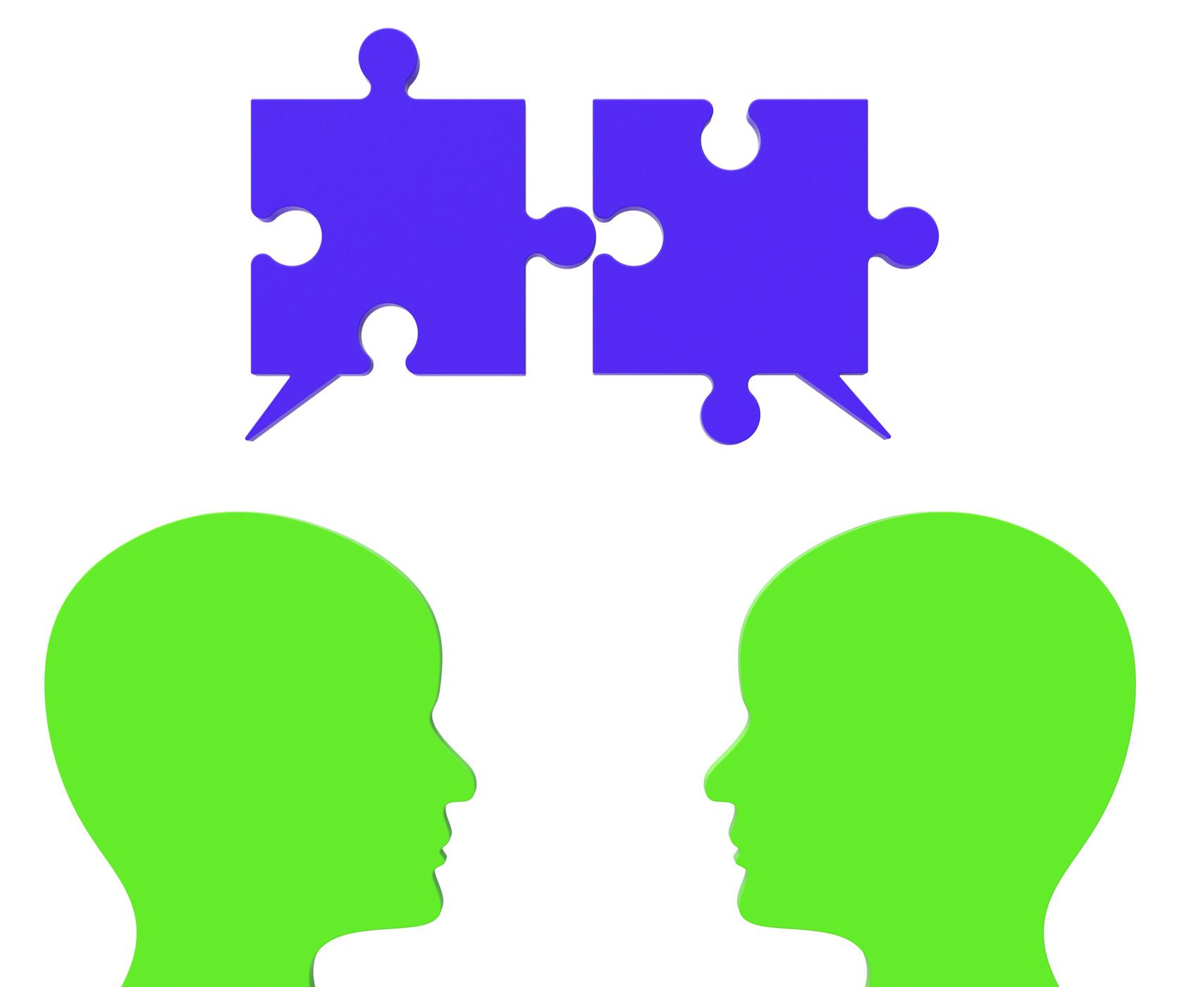 Speech Bubble Means Jigsaw Puzzle And Assemble, Assemble, Gossip, Speechbubble, Speaking, HQ Photo