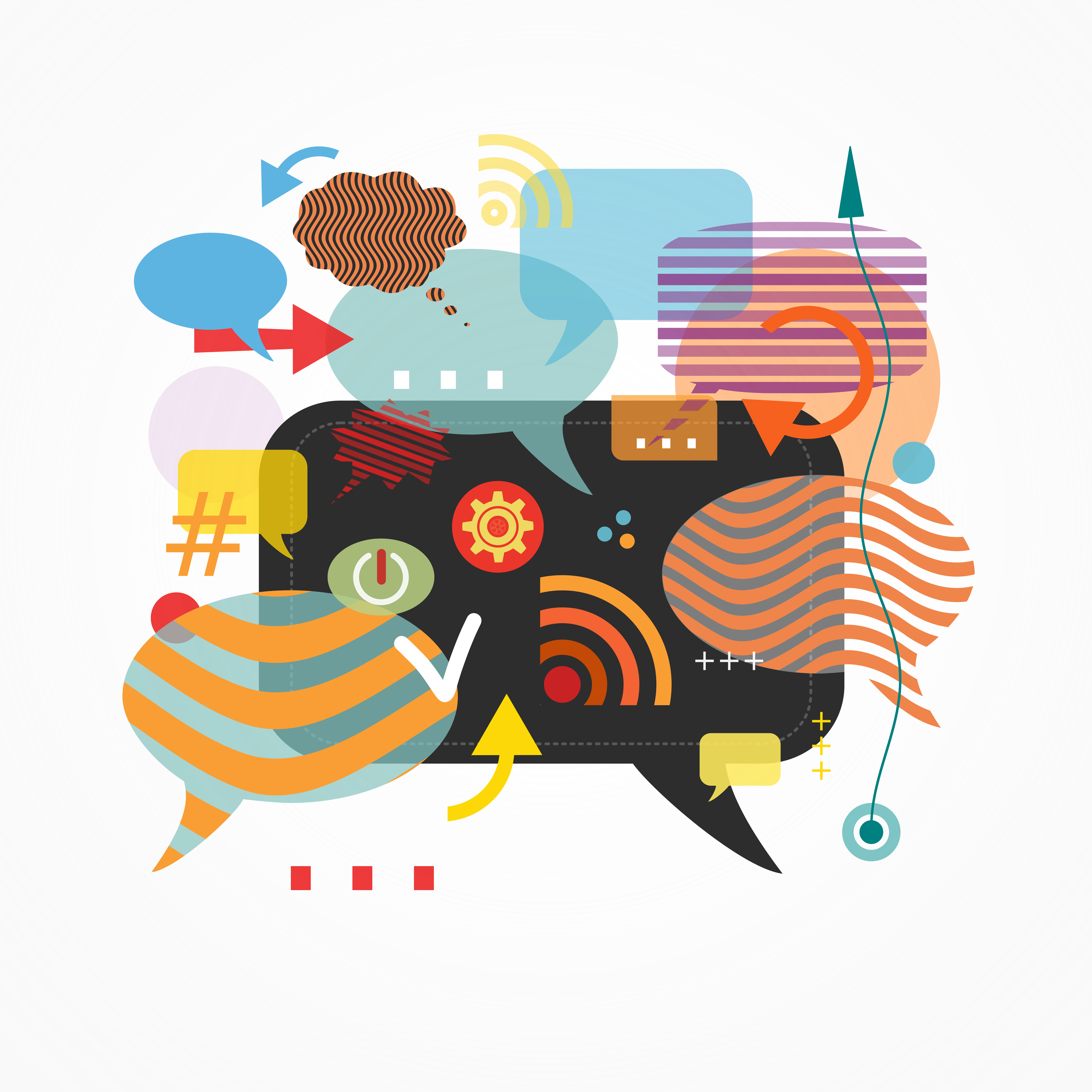 Speech Bubbles - Abstract Communication Concept, Abstract, Organization, Planning, Person, HQ Photo