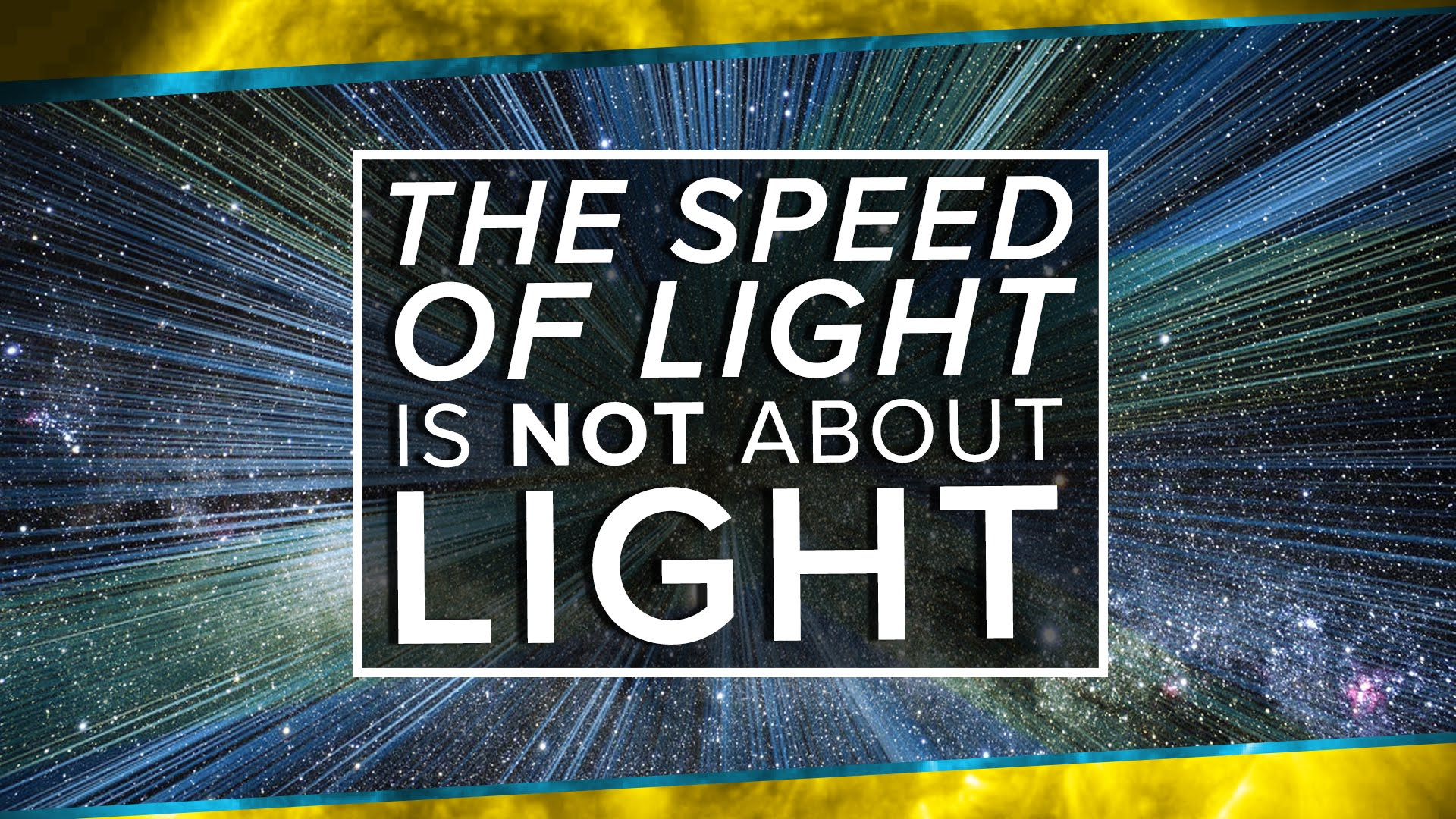The Speed of Light is NOT About Light | Space Time | PBS Digital ...