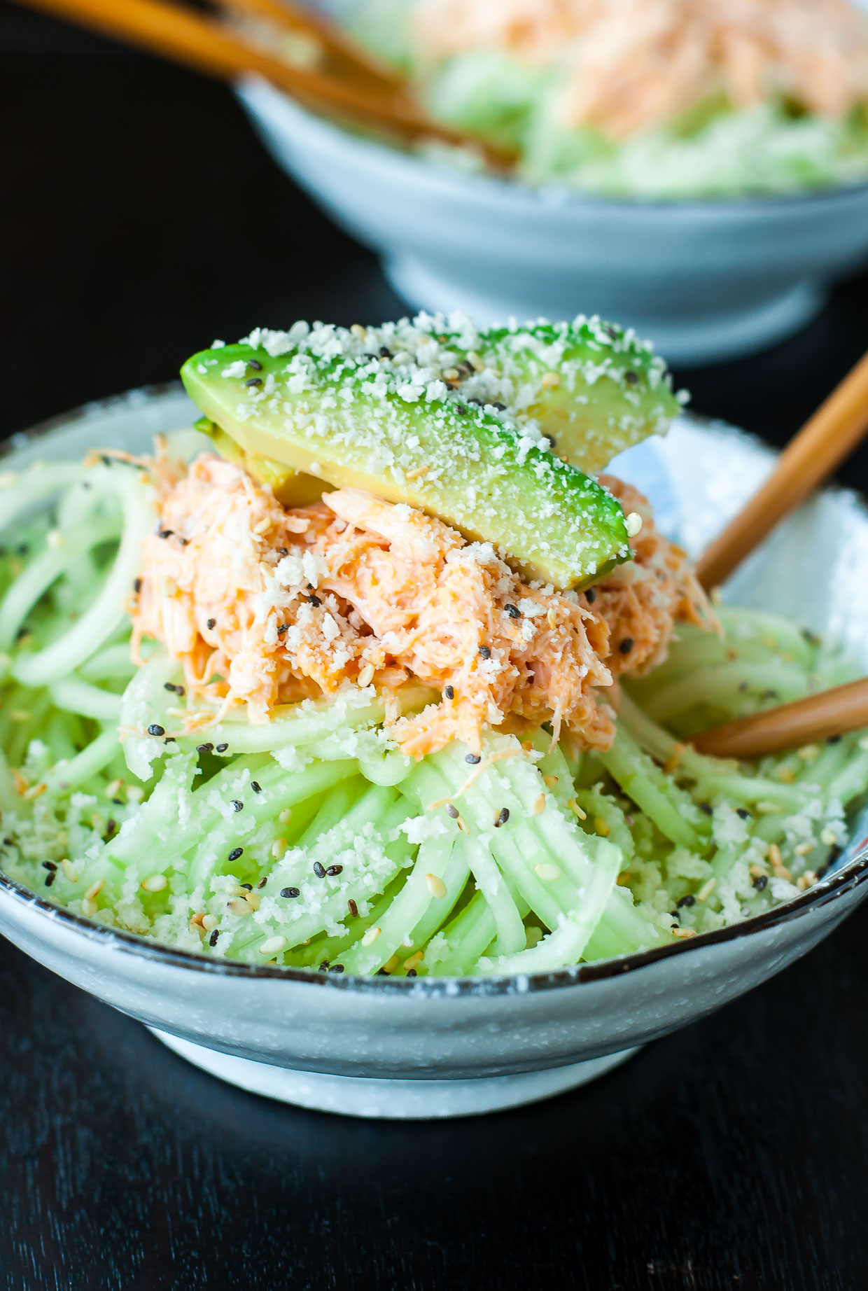 Spicy Sriracha Crab and Cucumber Salad