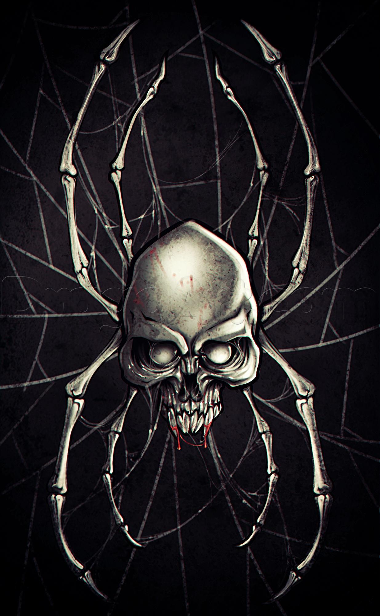 Image - How-to-draw-a-spider-skull-tattoo 1 000000019950 5-1-.png ...