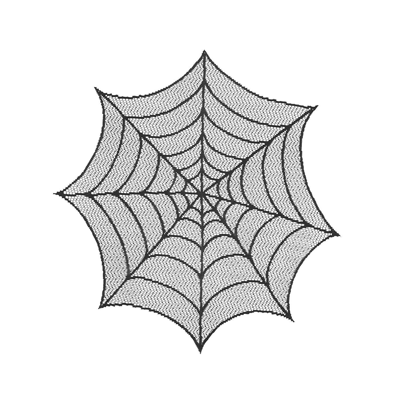 Amazon.com: Heritage Lace Spider Web 20-Inch Round Doily, Black, Set ...