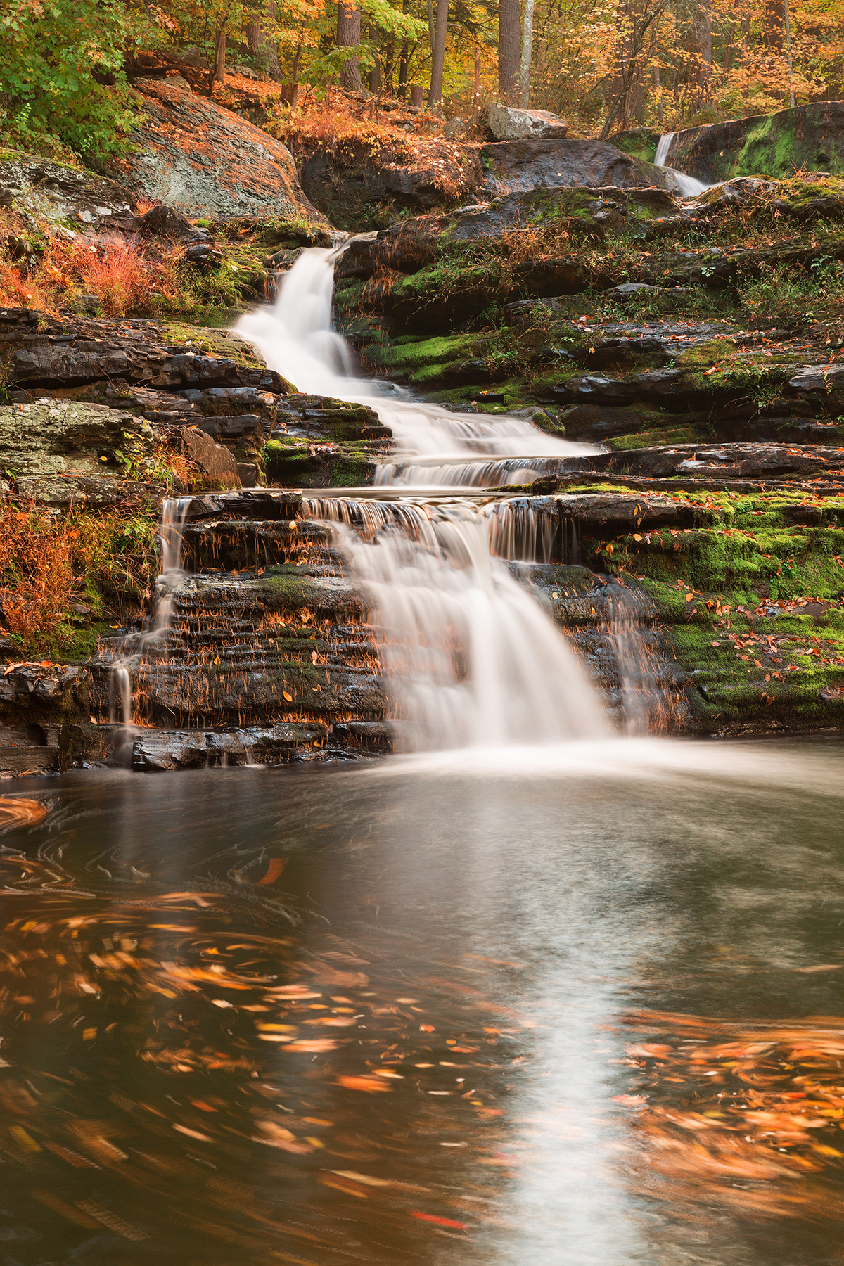 Spinning Autumn Factory Falls, America, Pristine, Silky, Serenity, HQ Photo