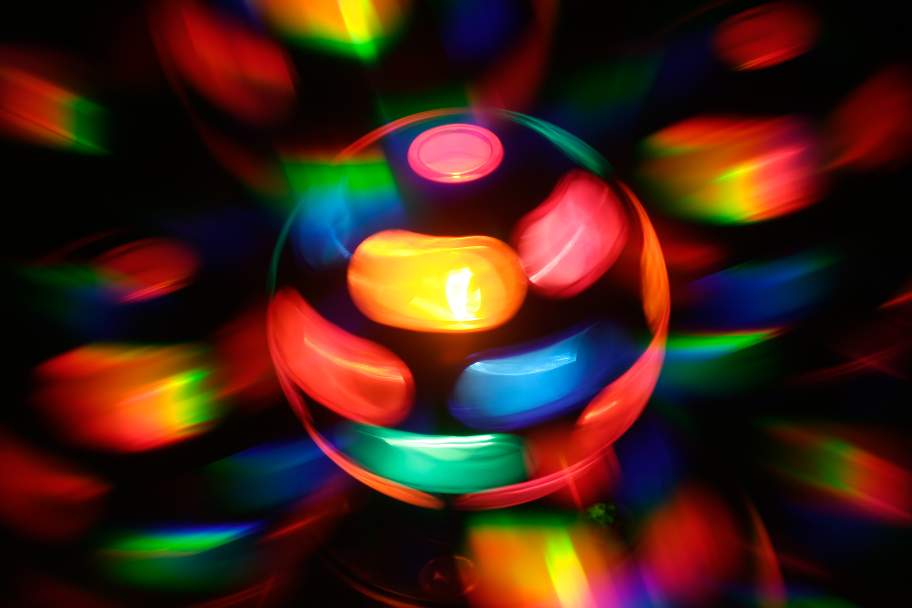 Spinning disco lamp abstract photo