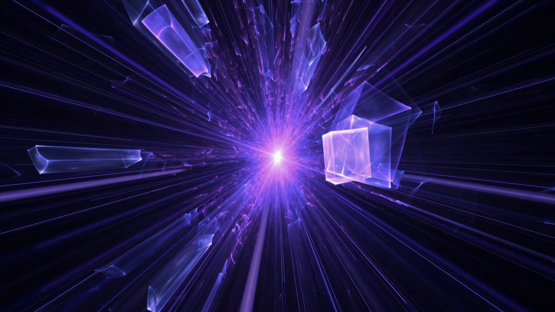 violet and purple blast with rays of light, explosion, violet and ...