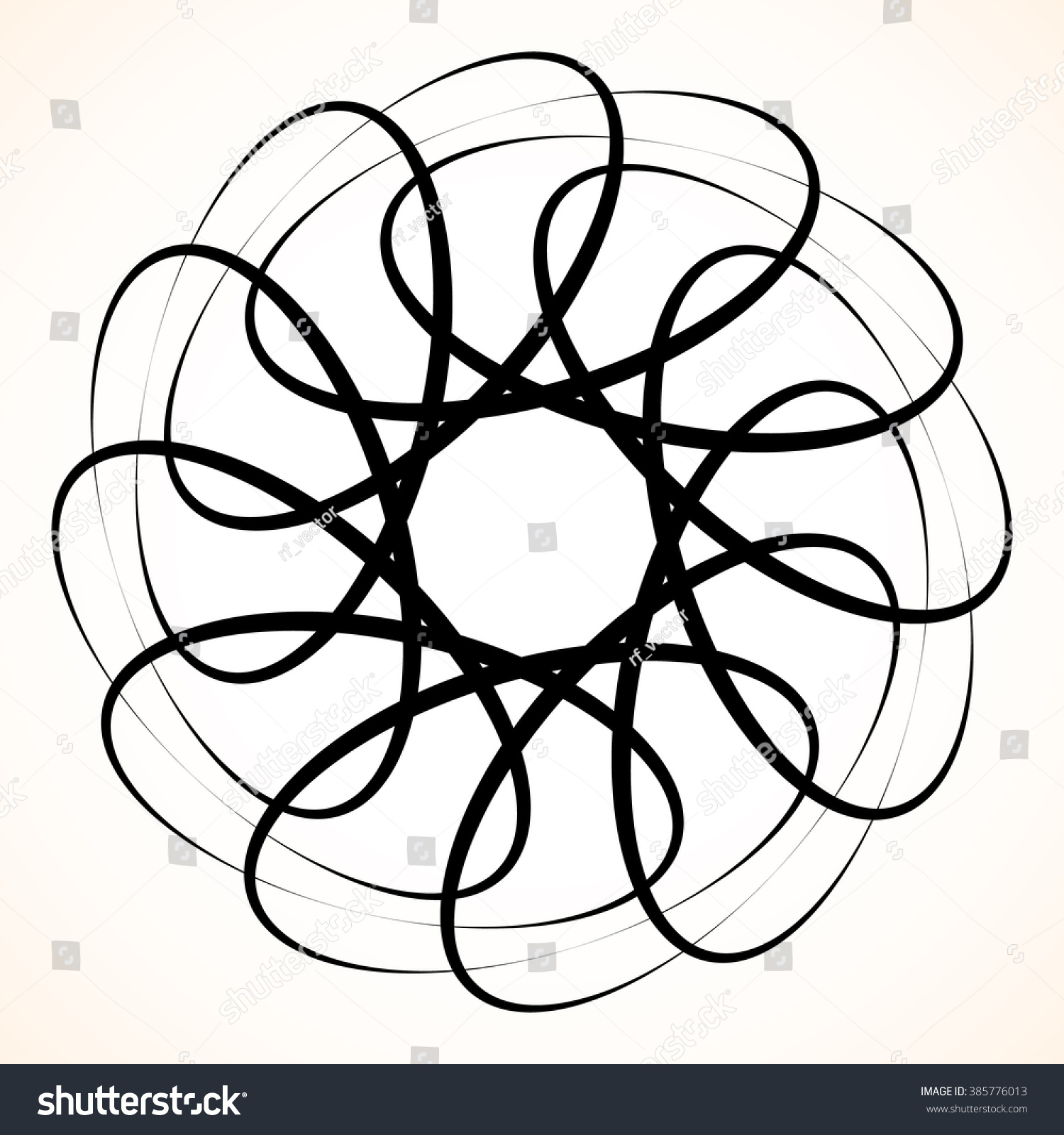 Abstract Circular Element Spinning Swirling Forms Stock Illustration ...