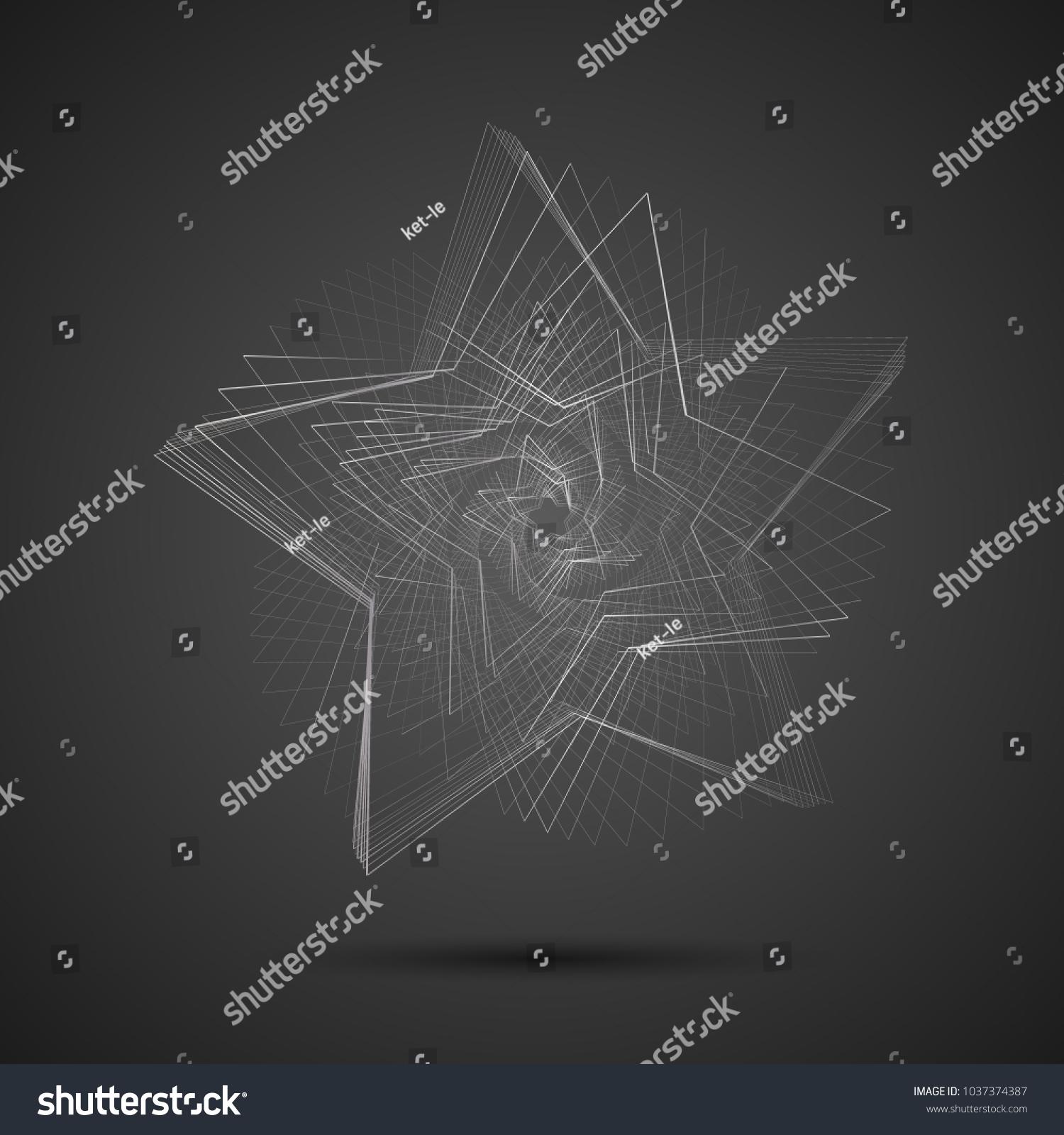 Creative Abstract Cyclic Spinning Spiral Star Stock Vector HD ...