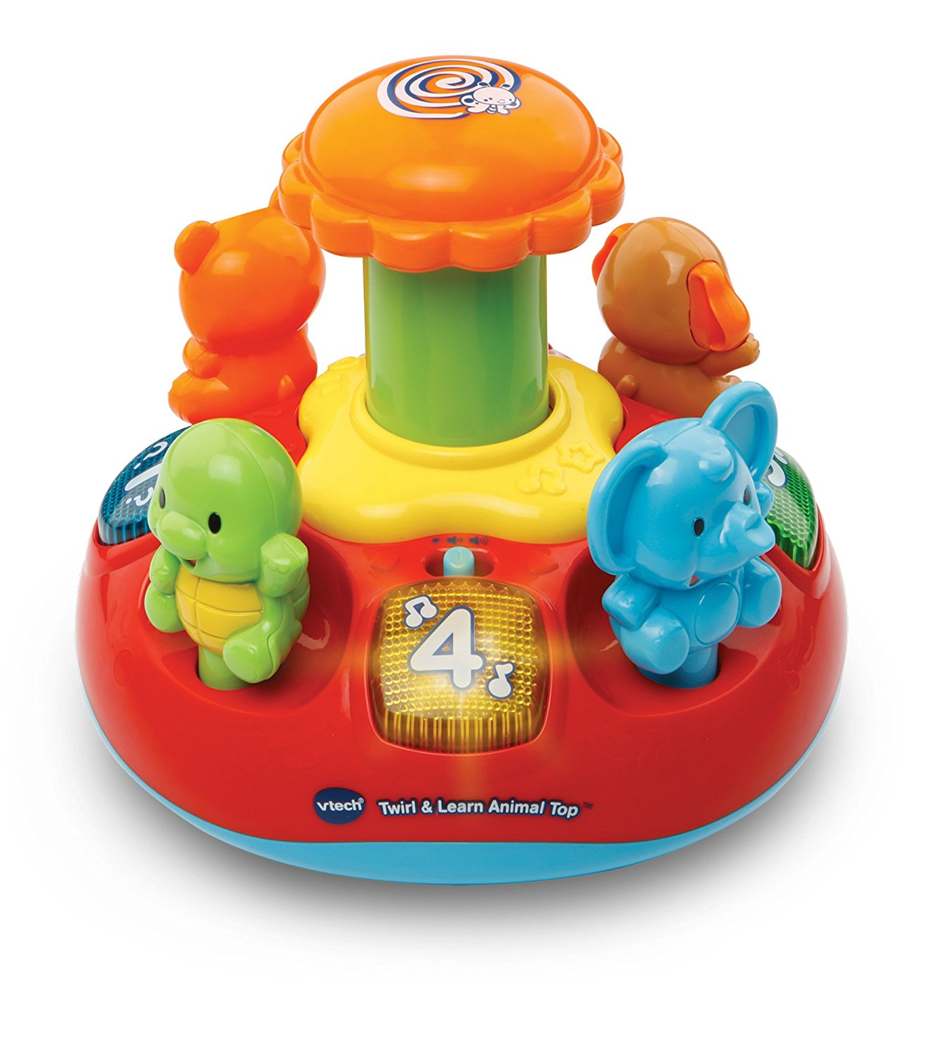 VTech Baby Push and Play Spinning Top Toy - Multi-Coloured: VTech ...