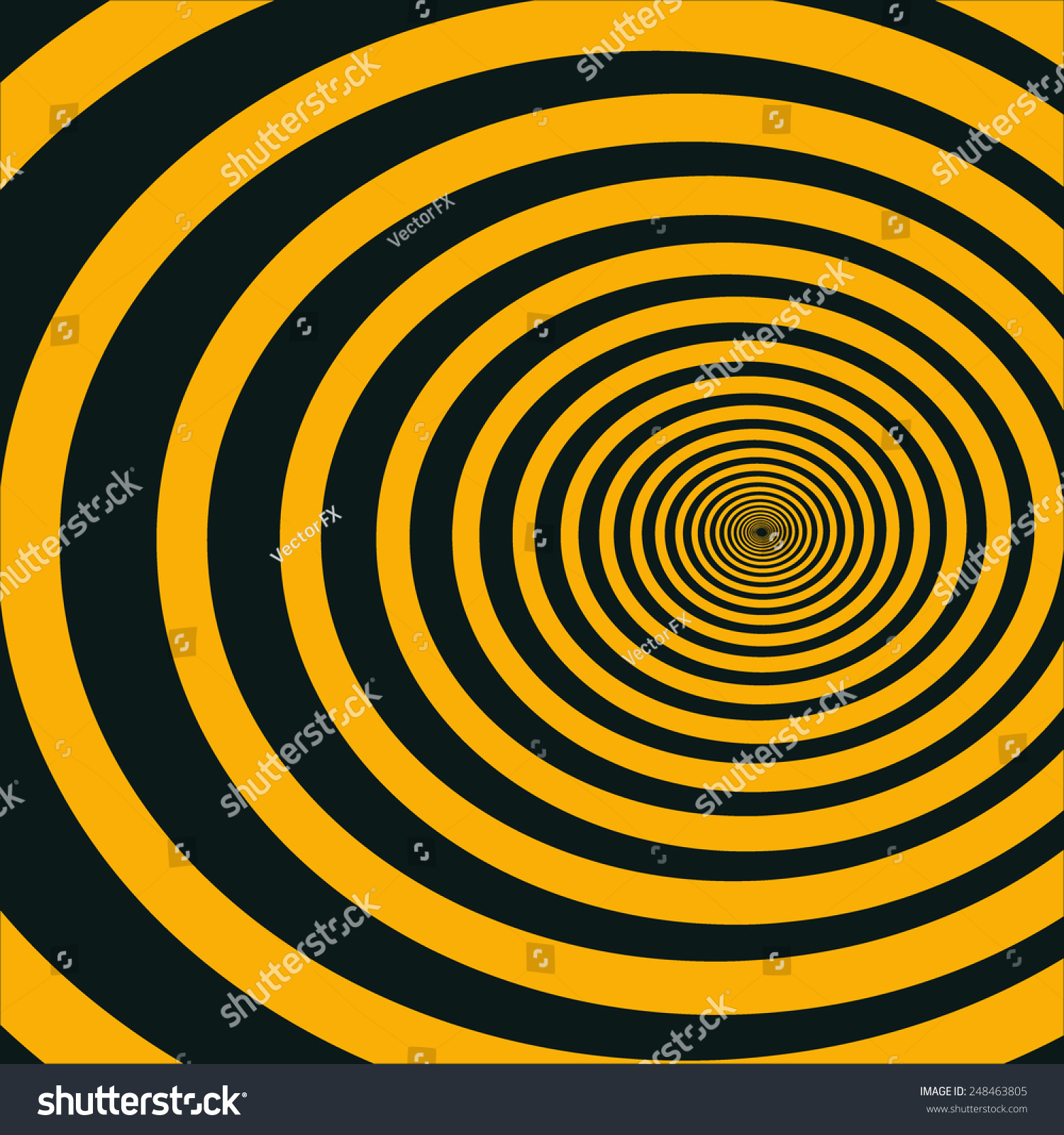 Spiral Tunnel Large Number Turns Goes Stock Vector HD (Royalty Free ...