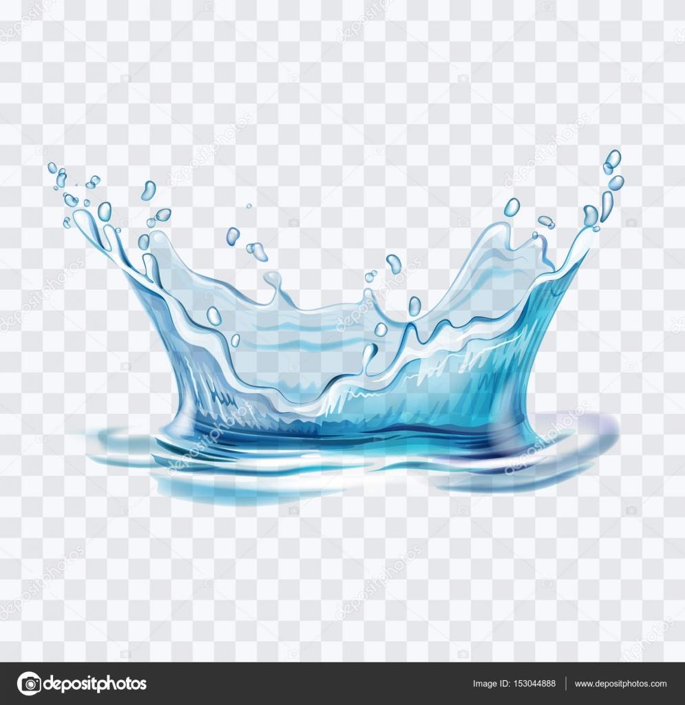 Blue water splash vector — Stock Vector © bioraven #153044888