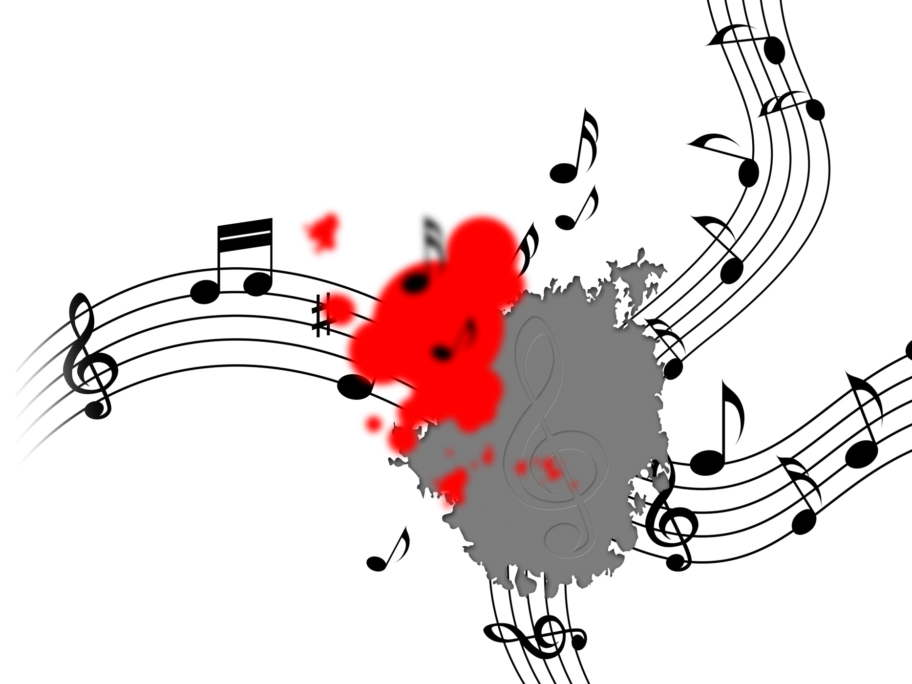 Free photo: Splat Music Shows Musical Note And Clef